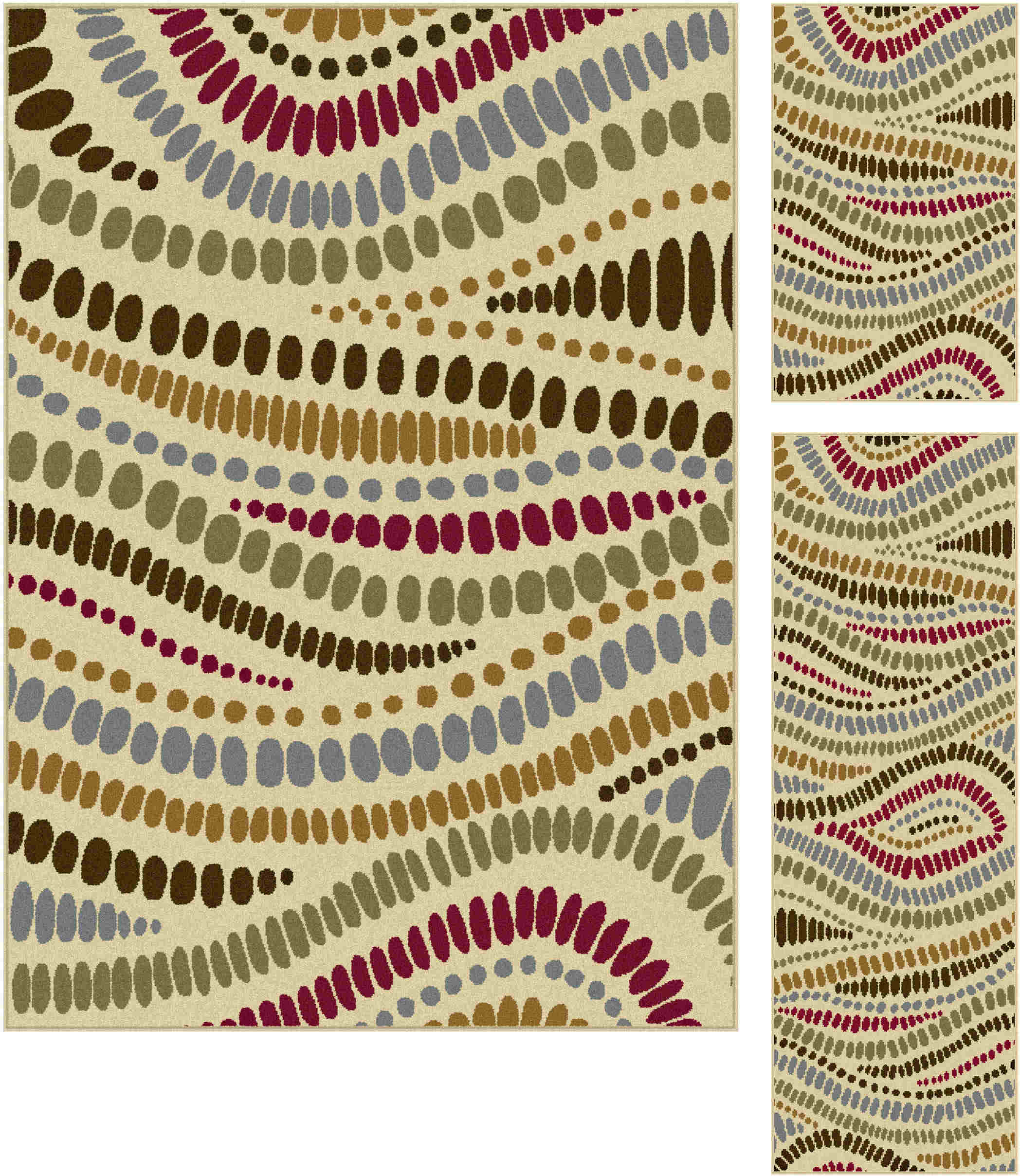 Laguna 4512 Beige Contemporary Area Rug