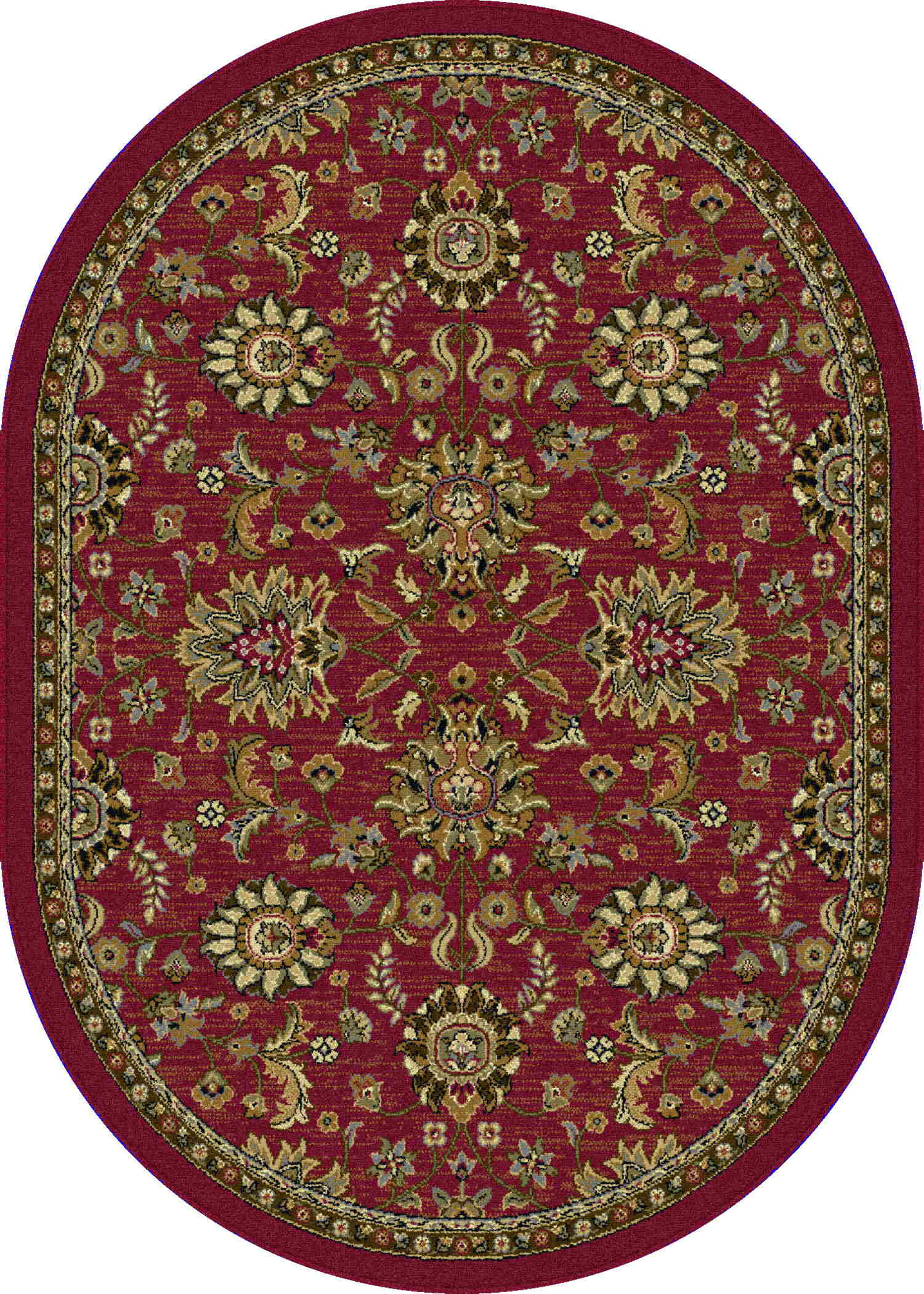 Laguna 4590 Red Transitional Area Rug