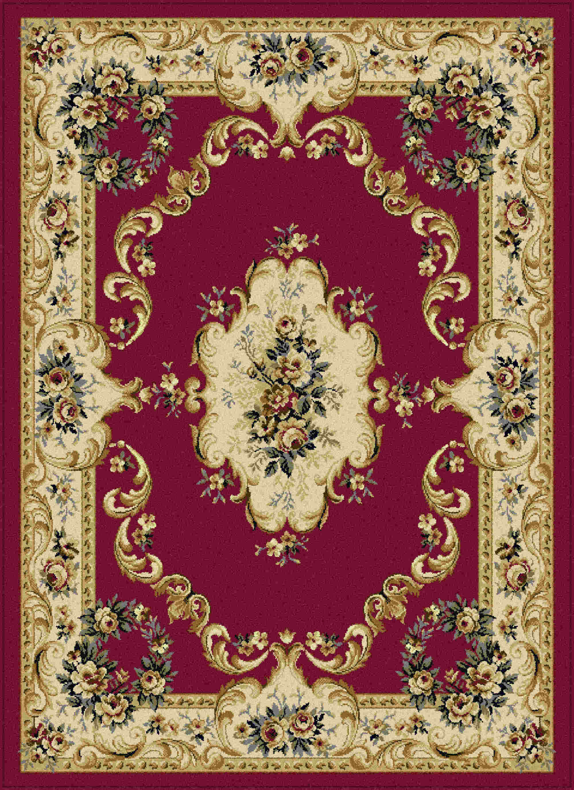 Laguna 4610 Red Traditional Area Rug