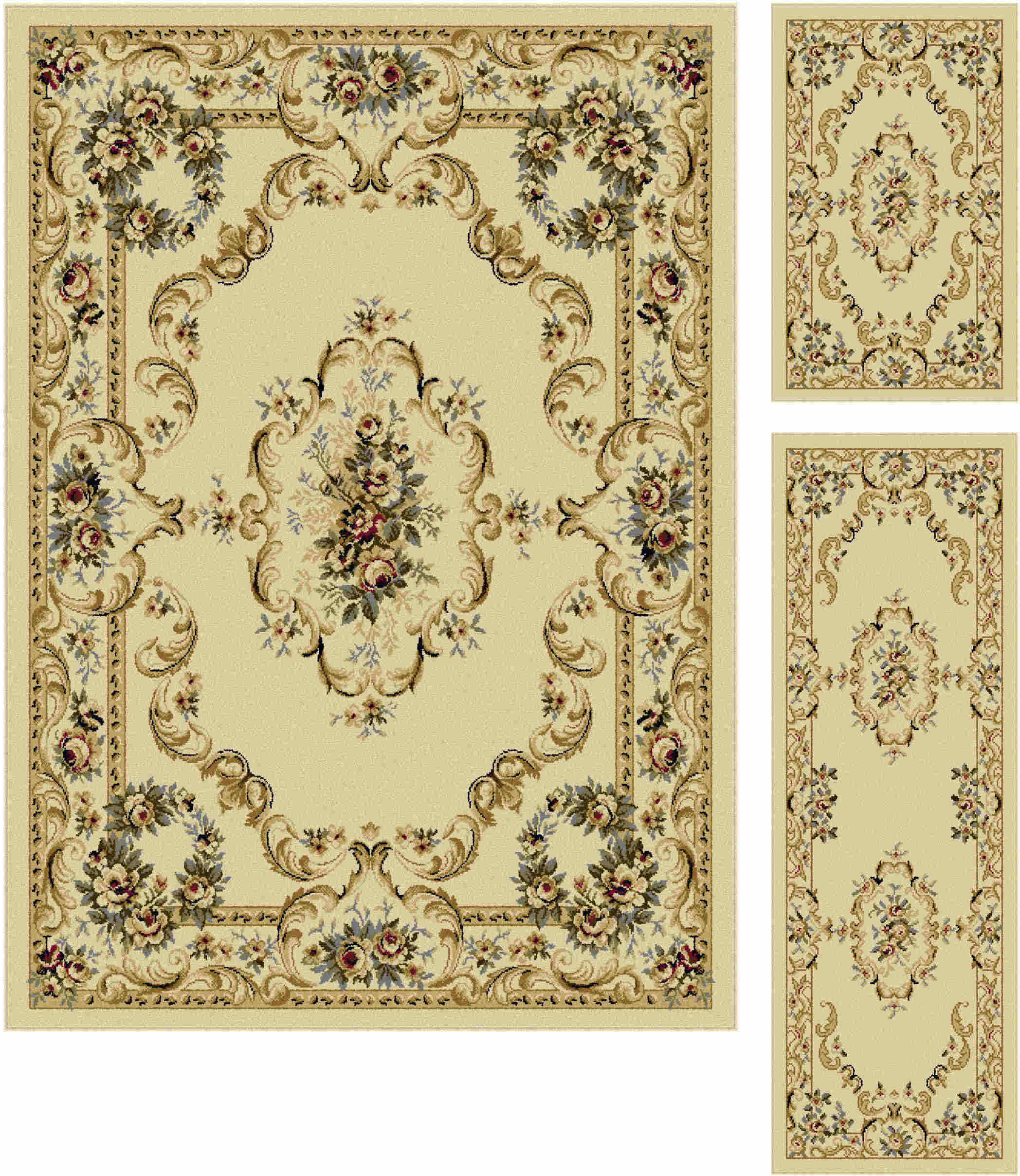 Laguna 4612 Beige Traditional Area Rug