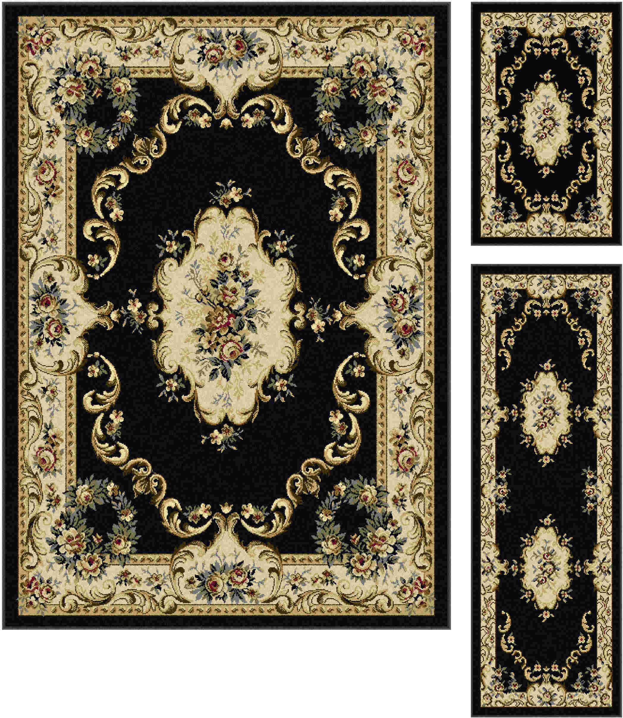 Laguna 4613 Charcoal Traditional Area Rug