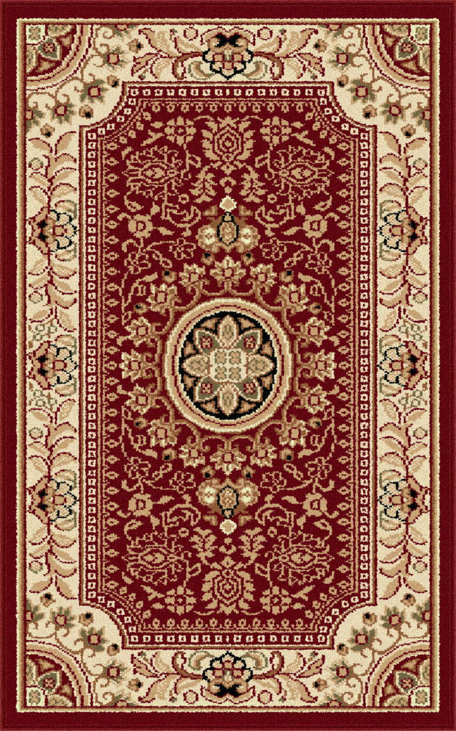 Sensation 4670 Red Traditional Area Rug