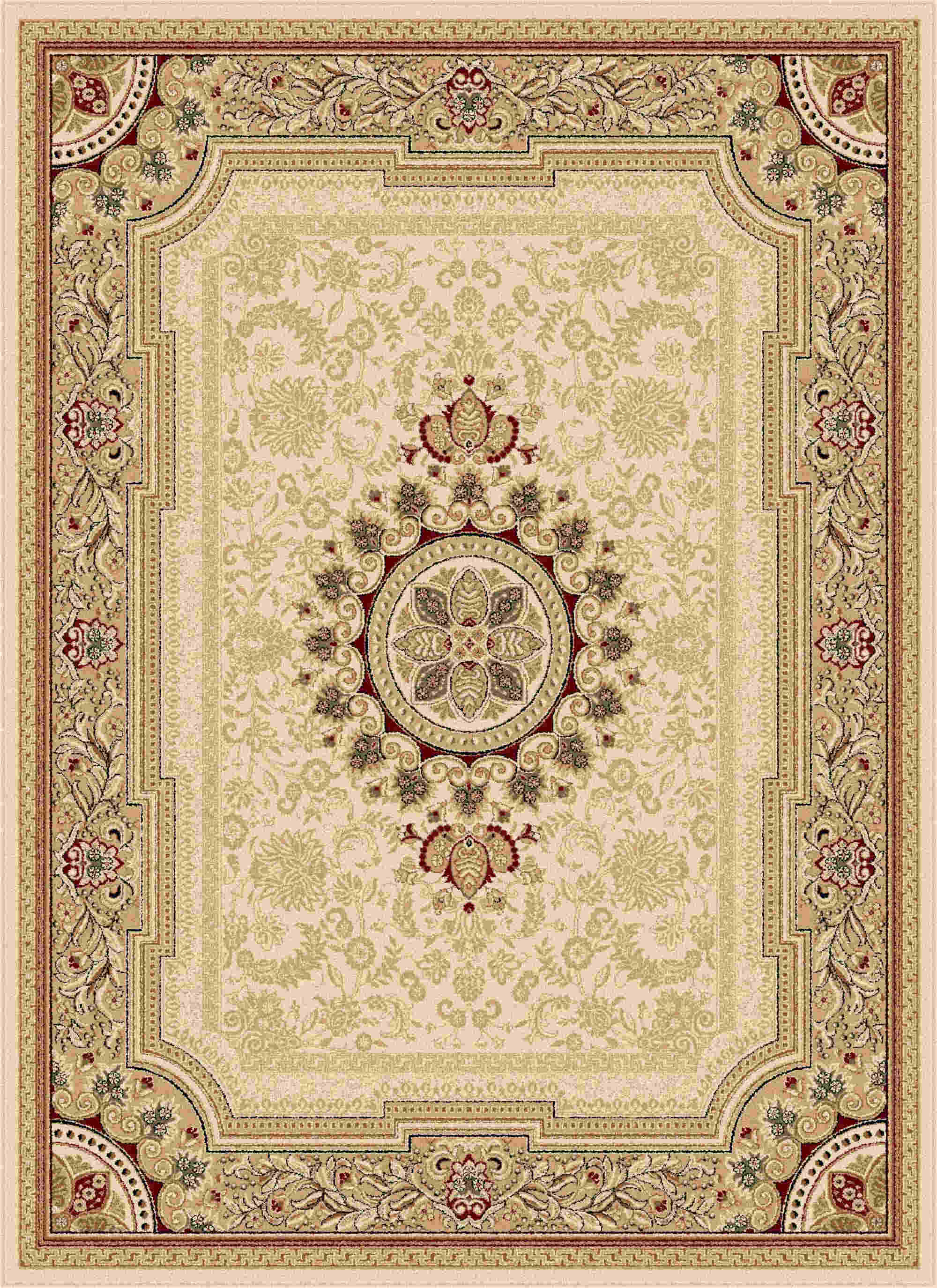 Sensation 4672 Beige Traditional Area Rug