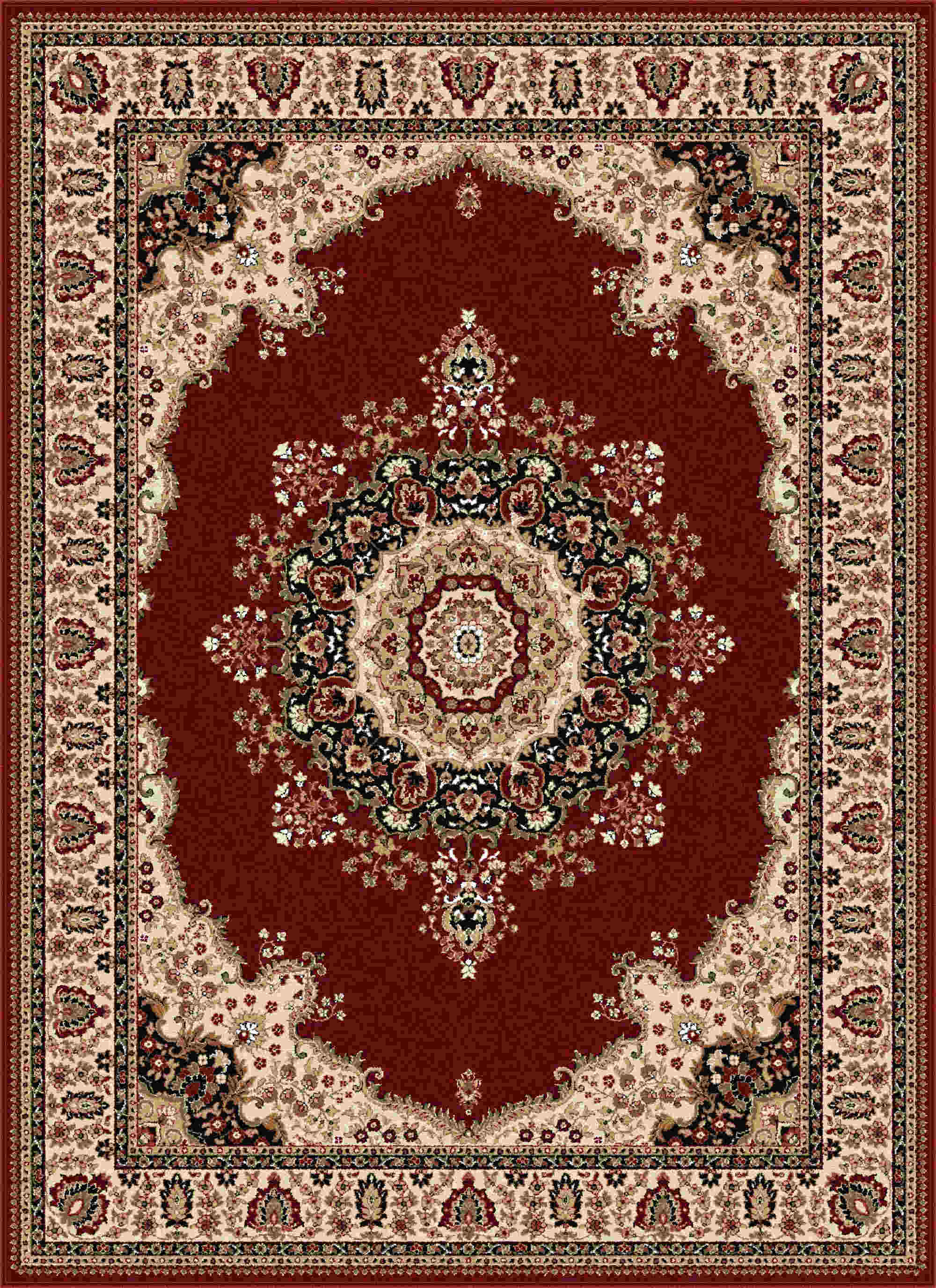 Sensation 4700 Red Traditional Area Rug