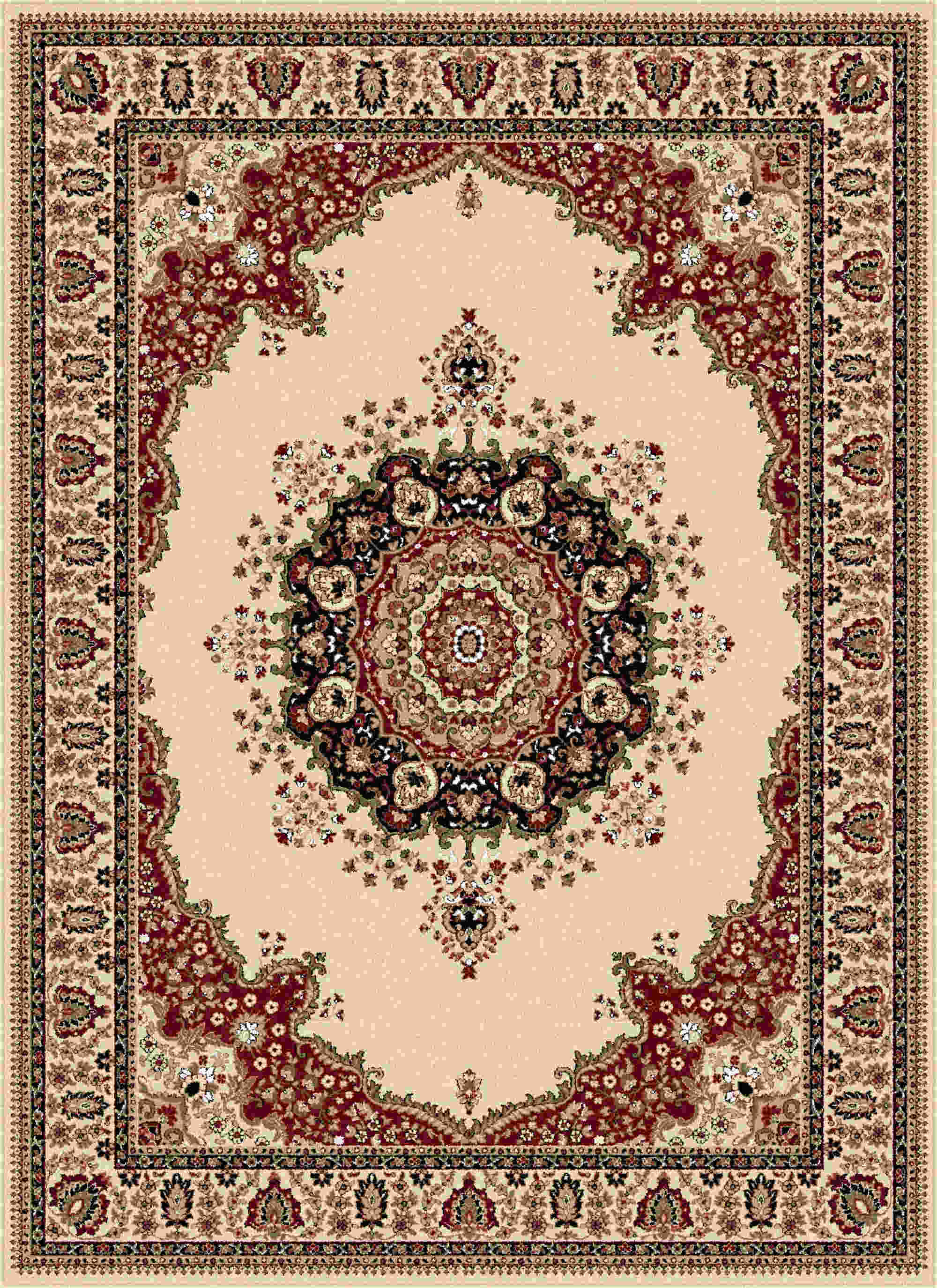 Sensation 4702 Beige Traditional Area Rug