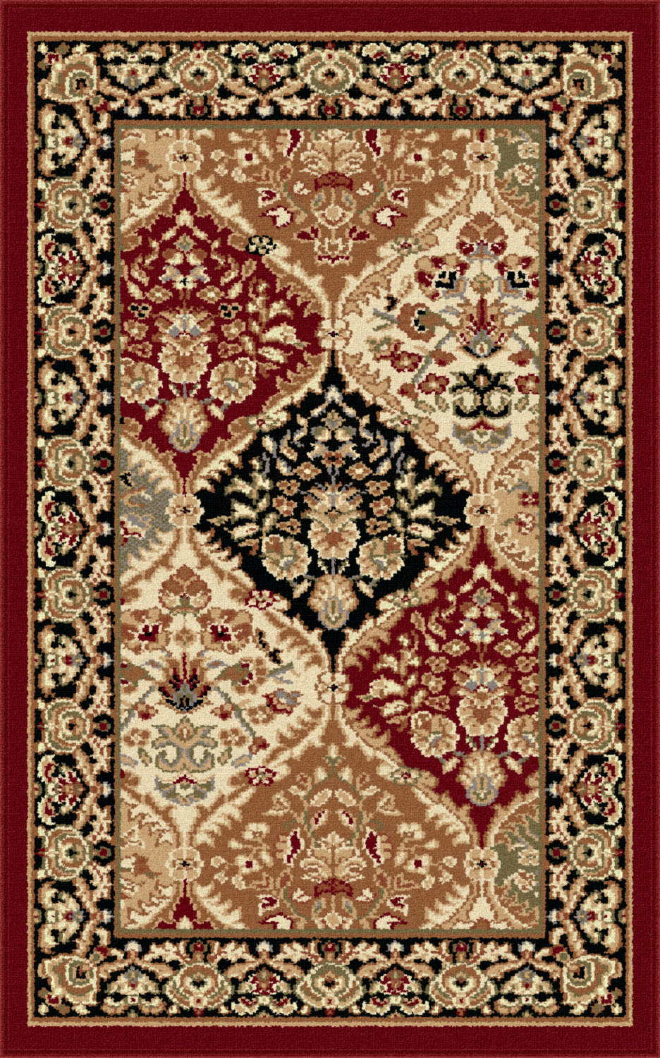 Sensation 4770 Red Traditional Area Rug