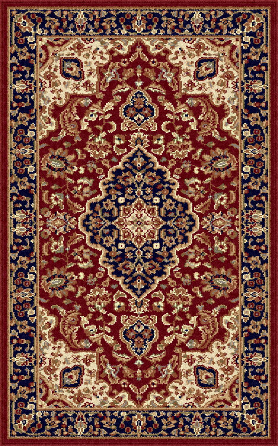 Sensation 4780 Red Traditional Area Rug