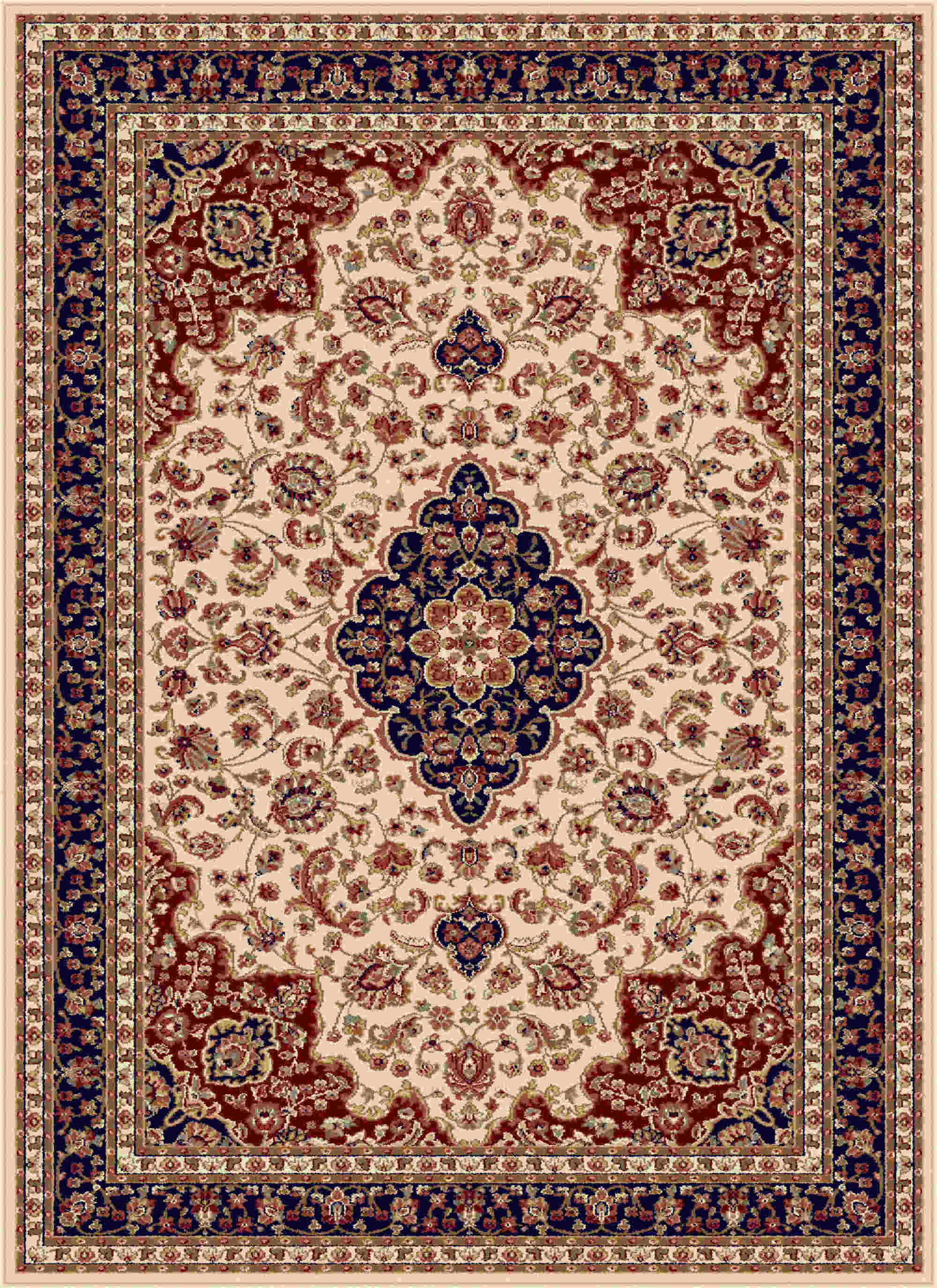Sensation 4782 Beige Traditional Area Rug