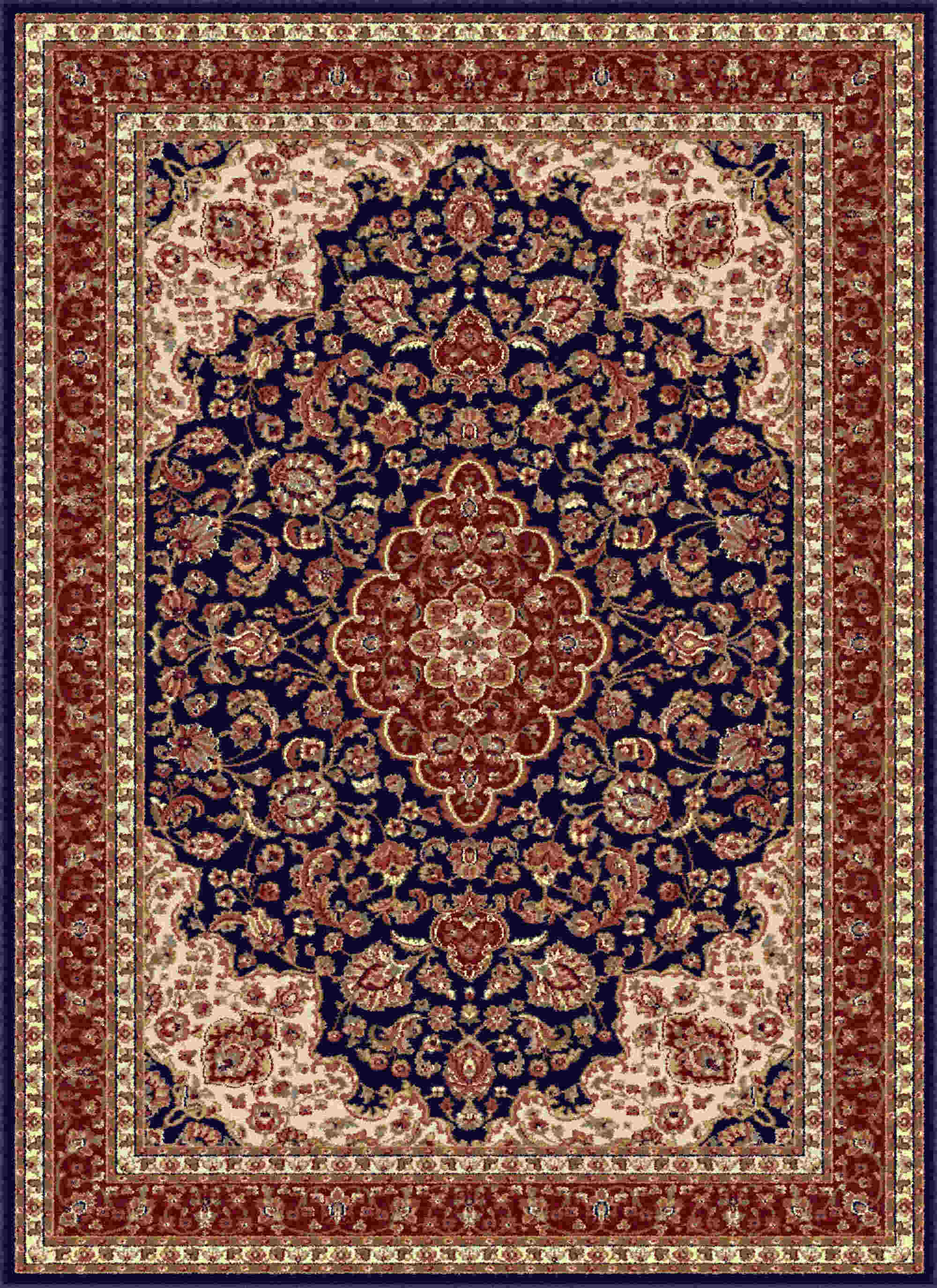 Sensation 4787 Navy Blue Traditional Area Rug