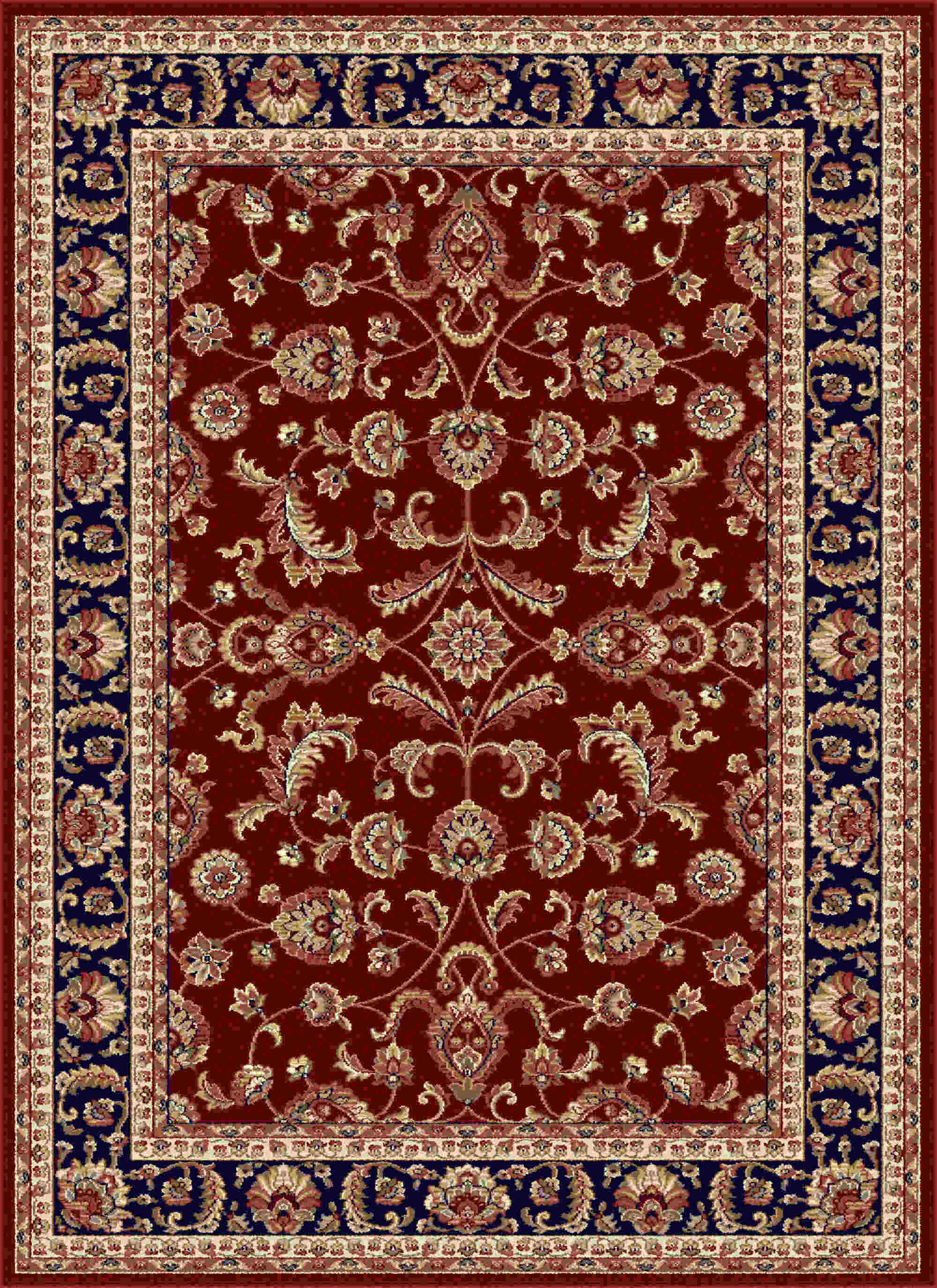 Sensation 4790 Red Transitional Area Rug