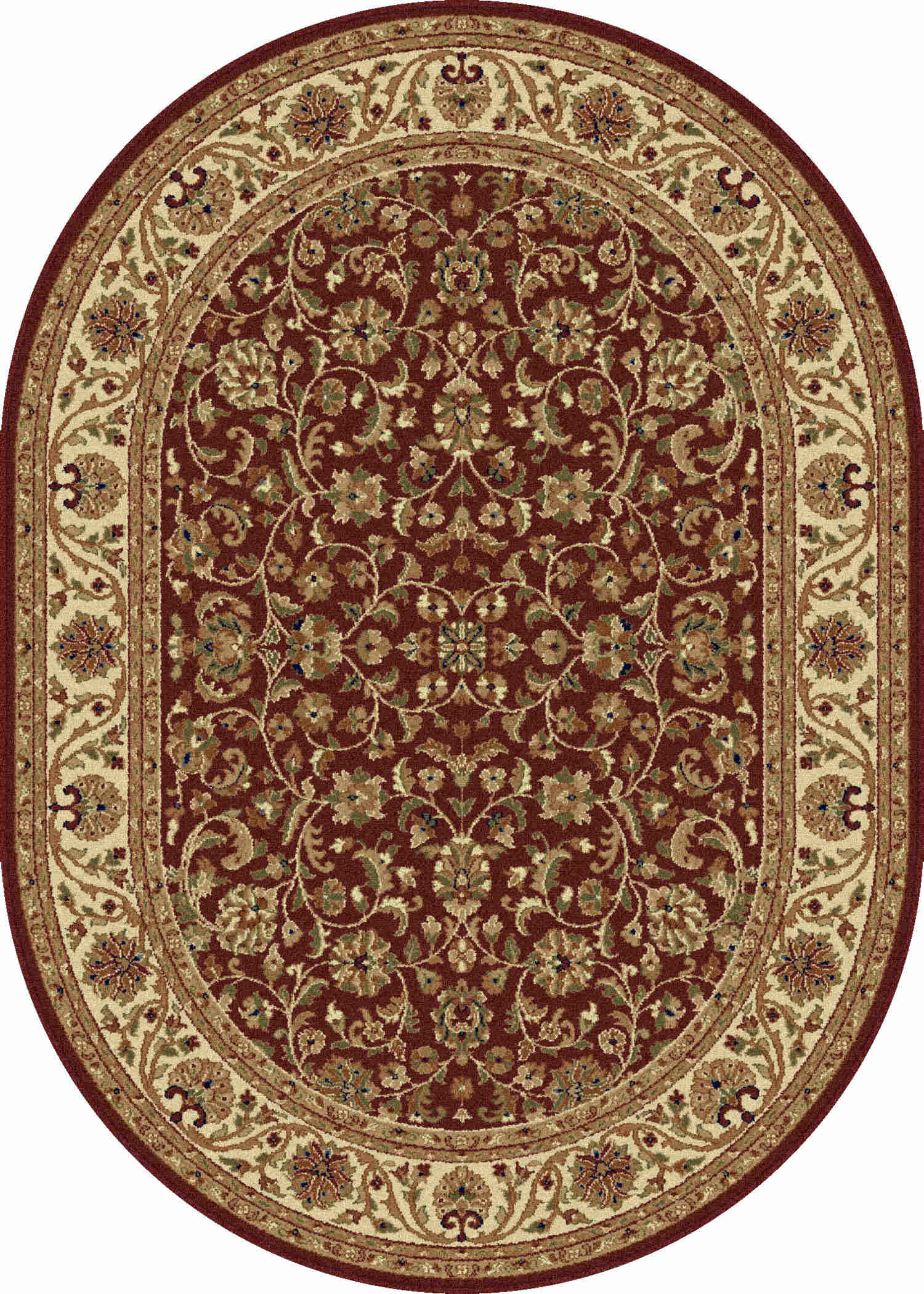 Sensation 4810 Red Transitional Area Rug
