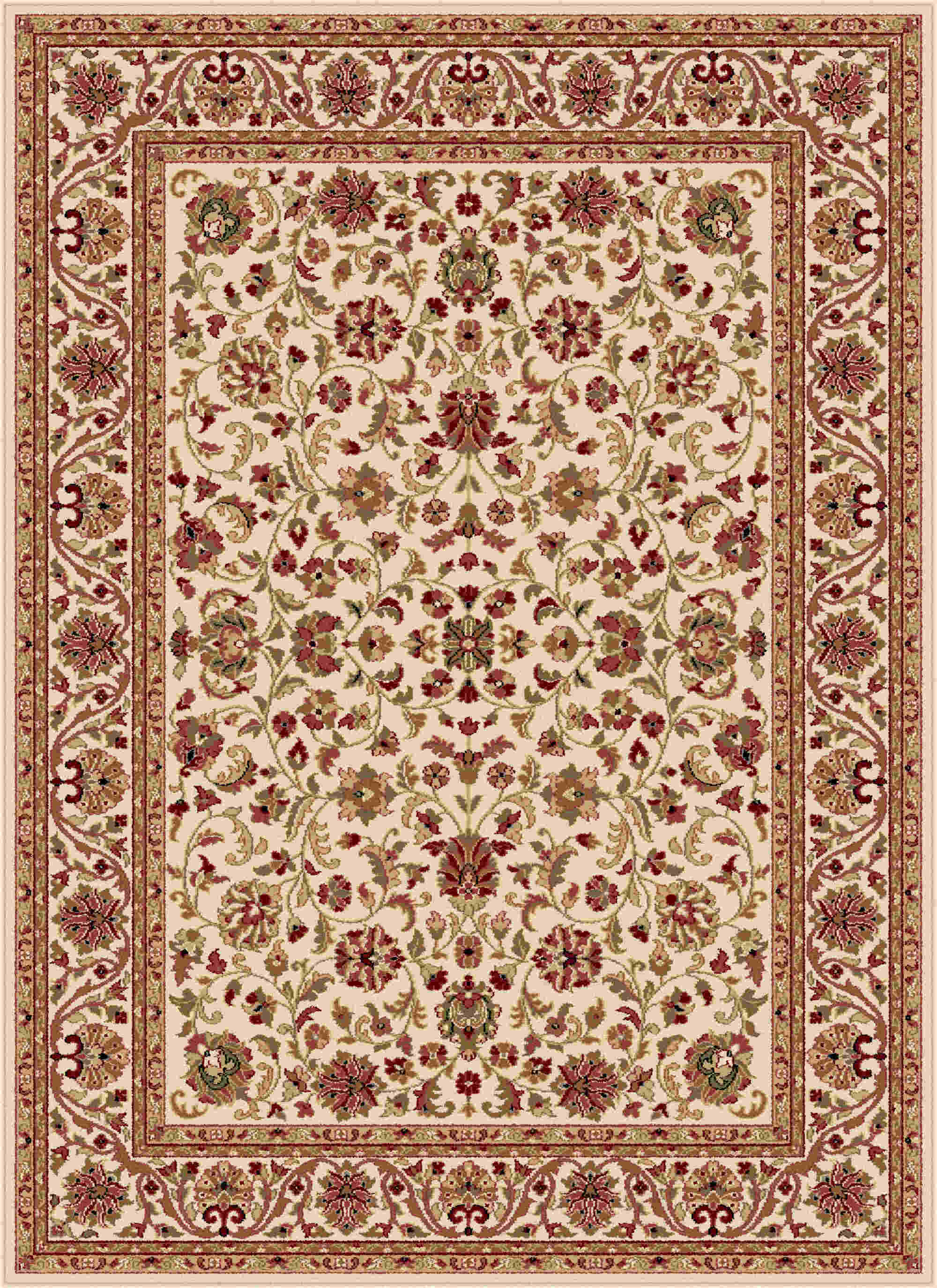 Sensation 4812 Beige Transitional Area Rug