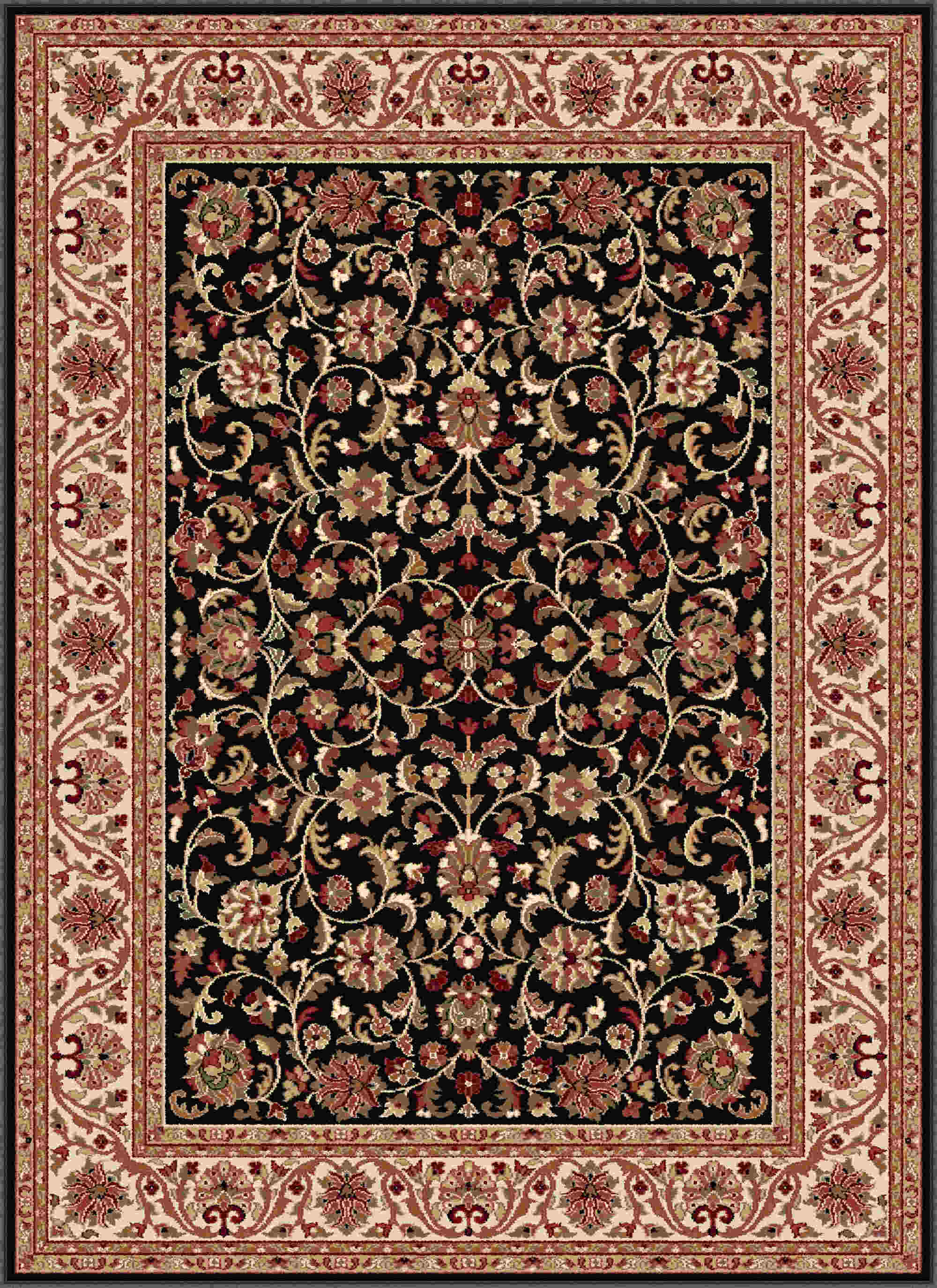 Sensation 4813 Black Transitional Area Rug
