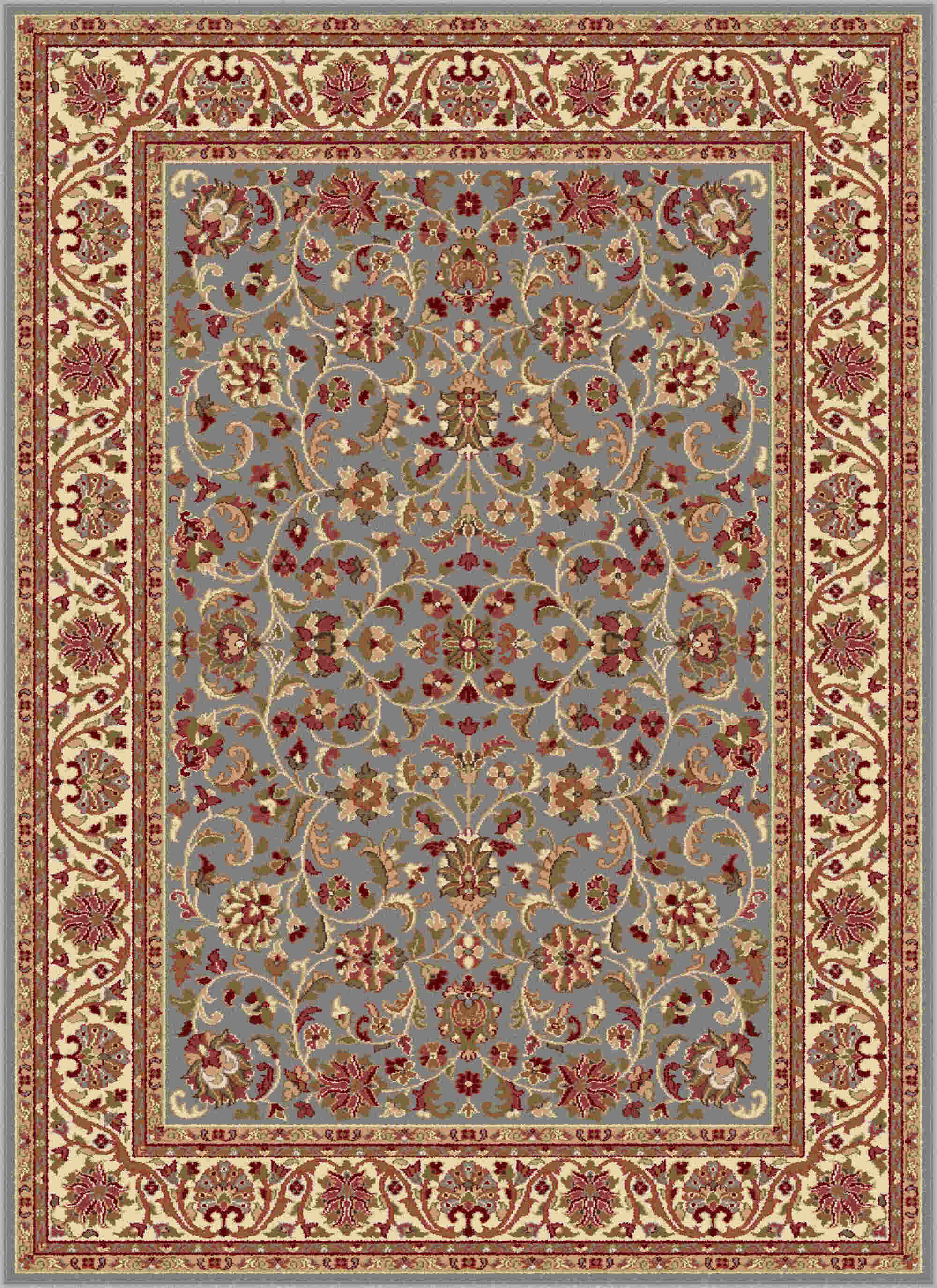 Sensation 4816 Blue Transitional Area Rug