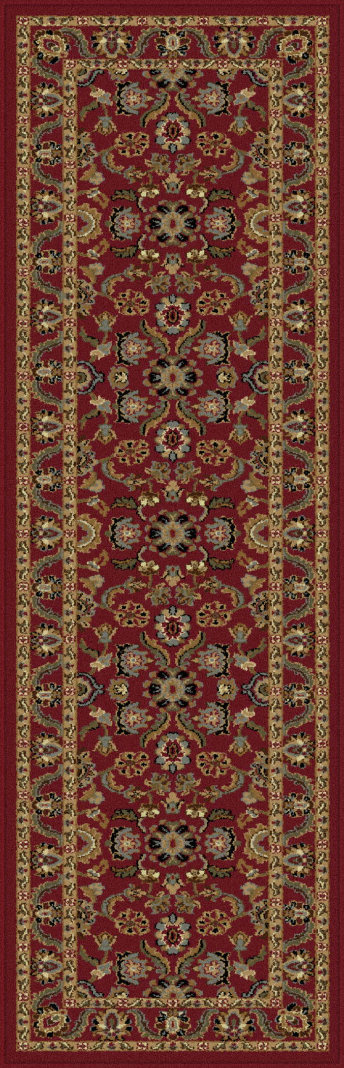 Sensation 4840 Red Traditional Area Rug