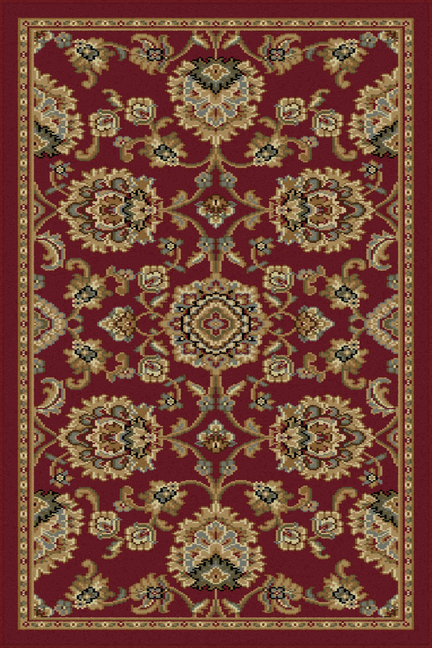 Sensation 4850 Red Traditional Area Rug