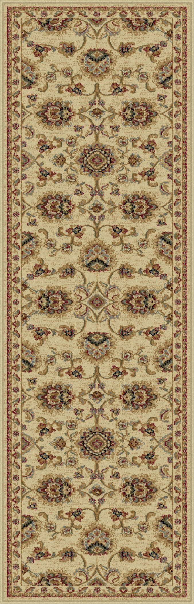Sensation 4852 Ivory Traditional Area Rug