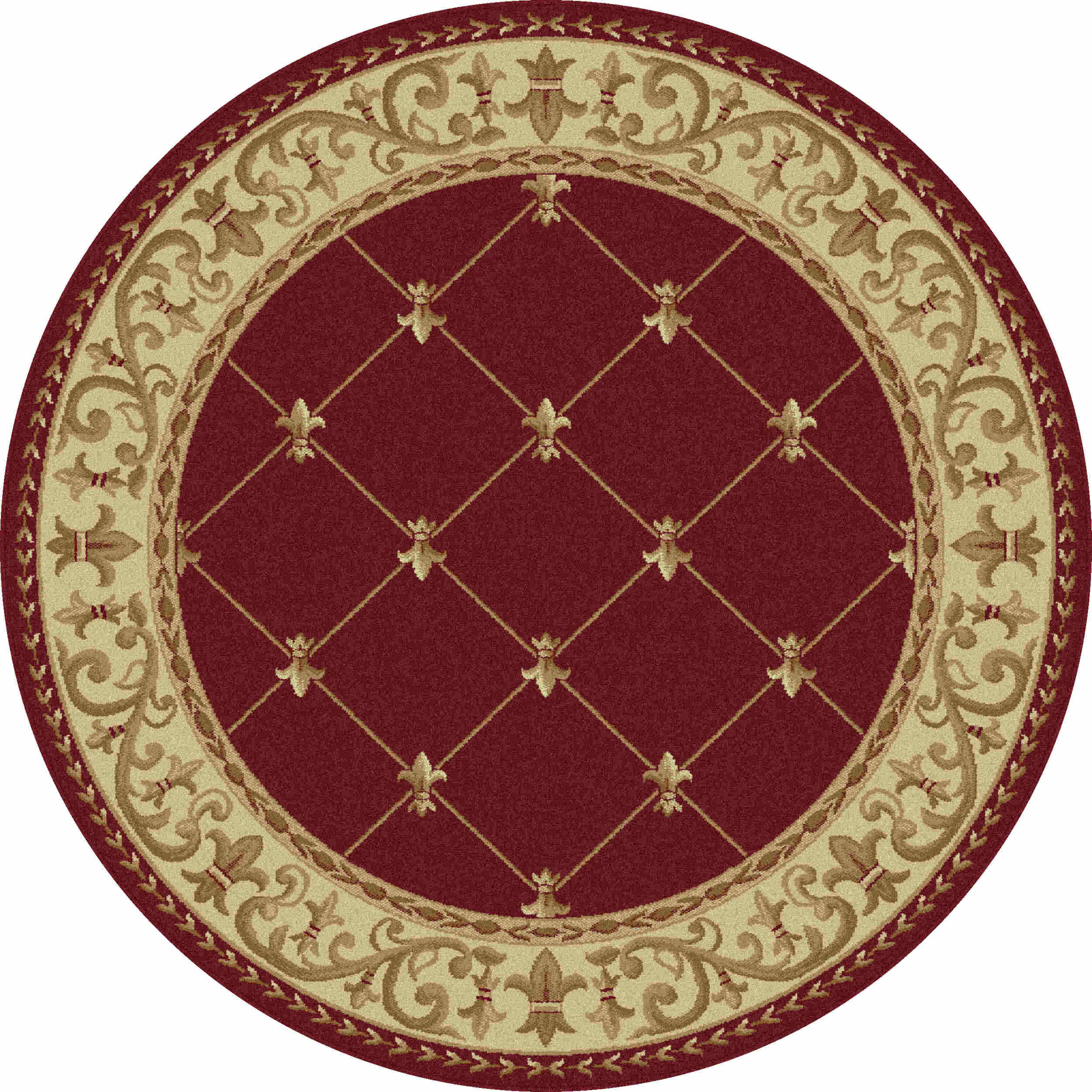 Sensation 4880 Red Traditional Area Rug