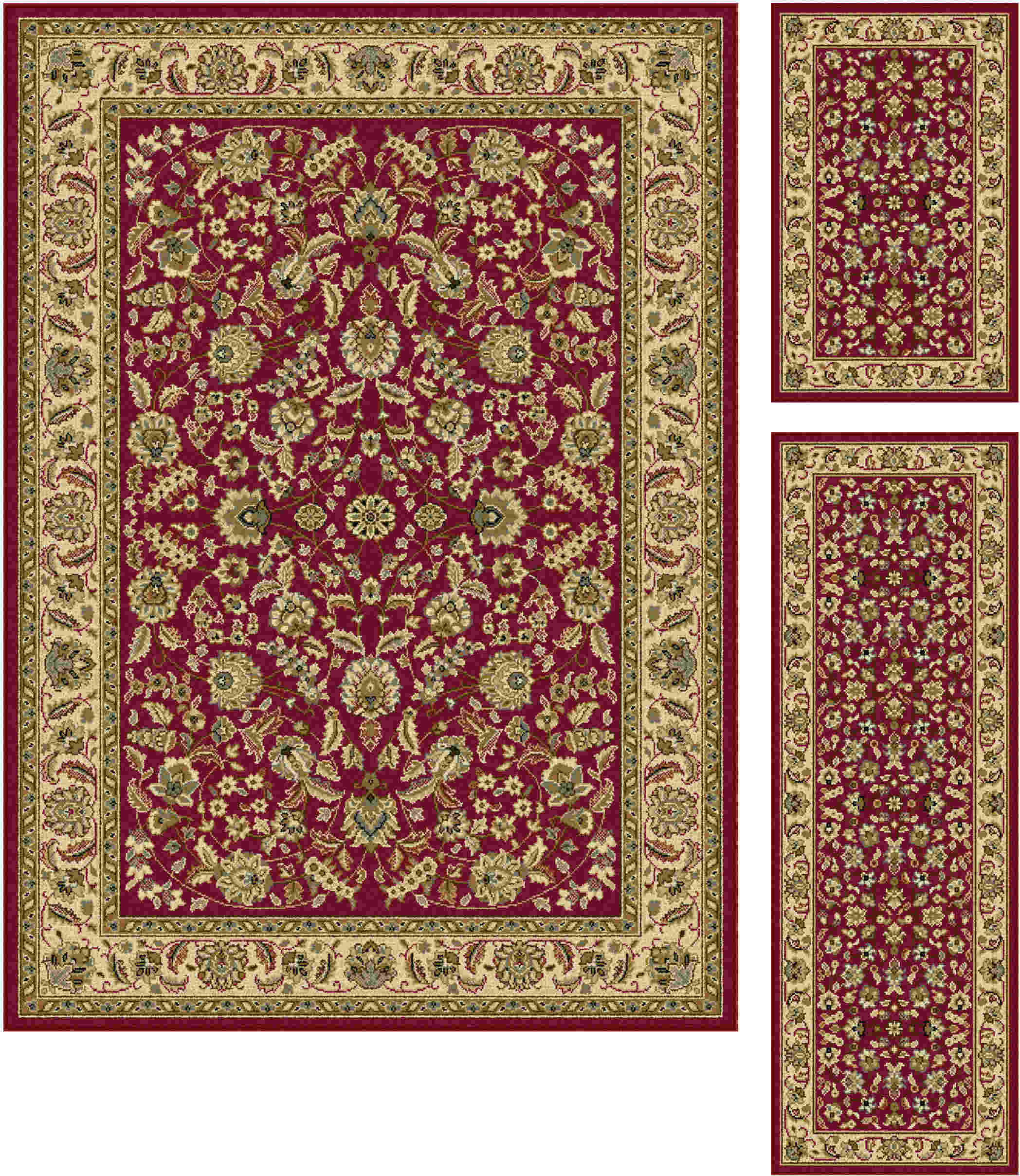 Laguna 5070 Red Traditional Area Rug