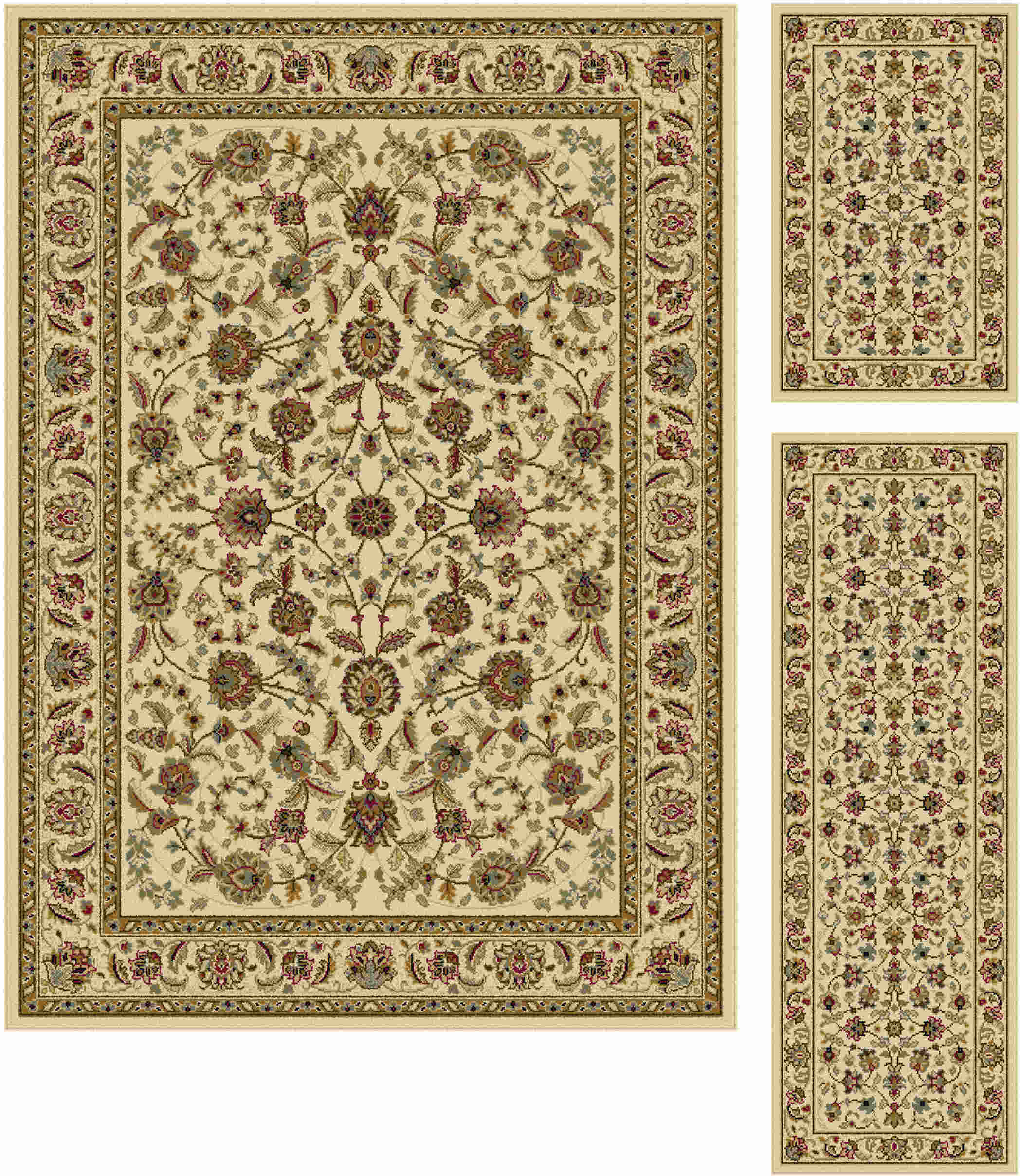 Laguna 5072 Ivory Traditional Area Rug