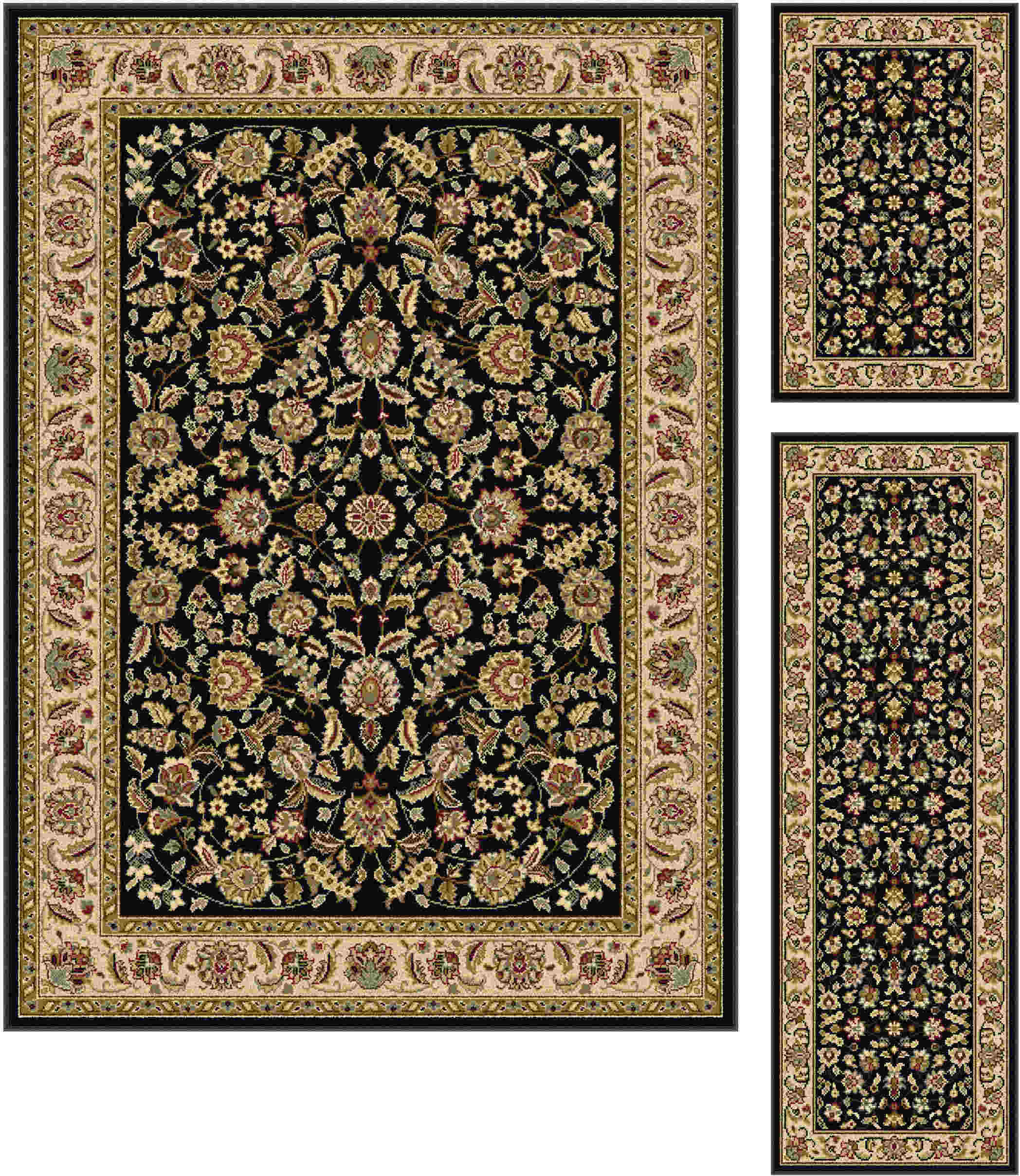 Laguna 5073 Black Traditional Area Rug
