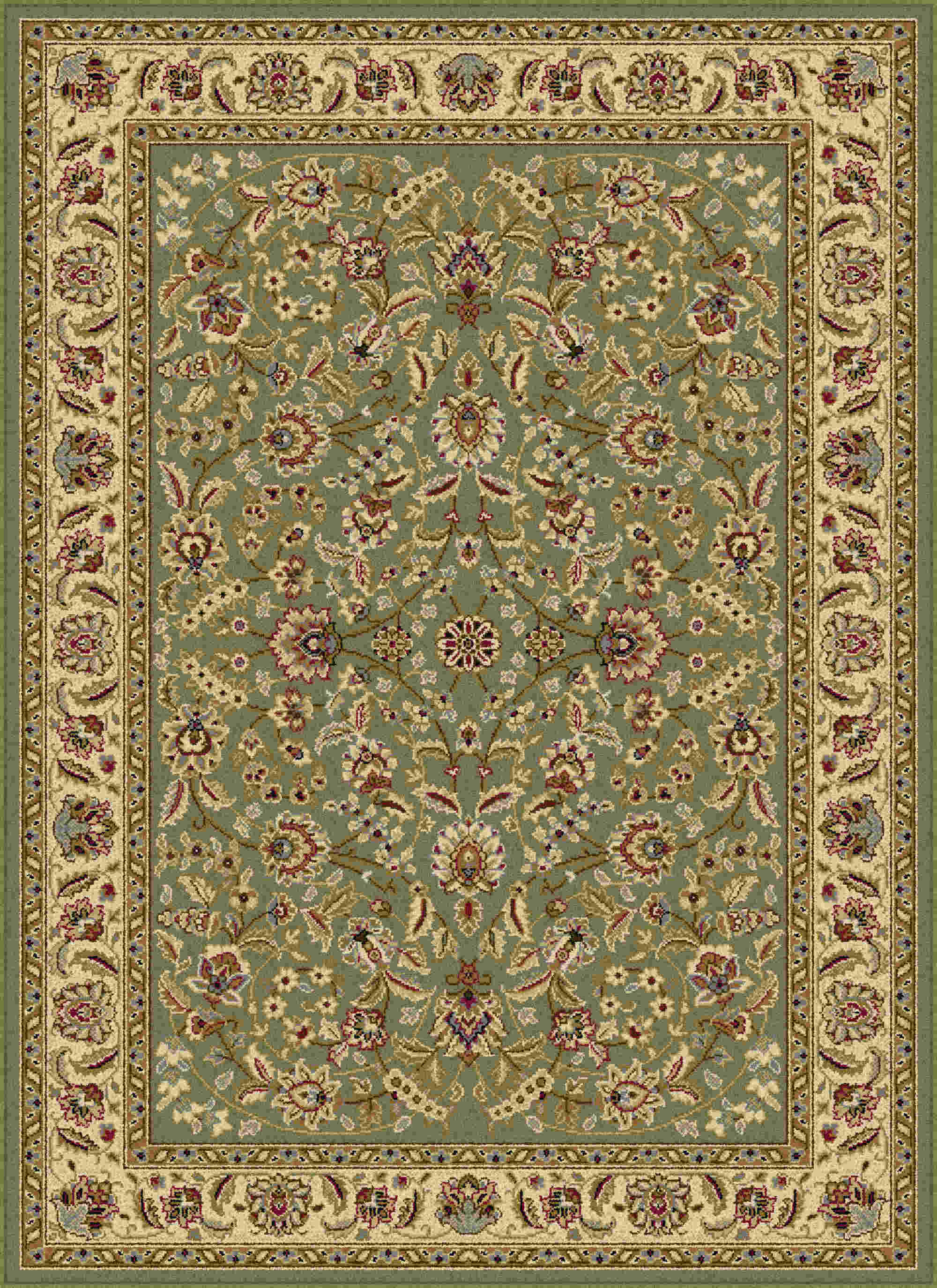 Laguna 5075 Green Traditional Area Rug