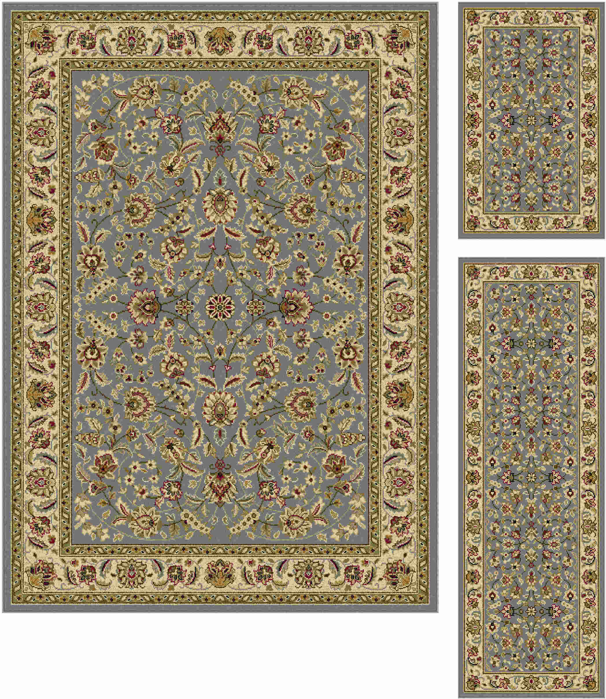 Laguna 5076 Blue Traditional Area Rug