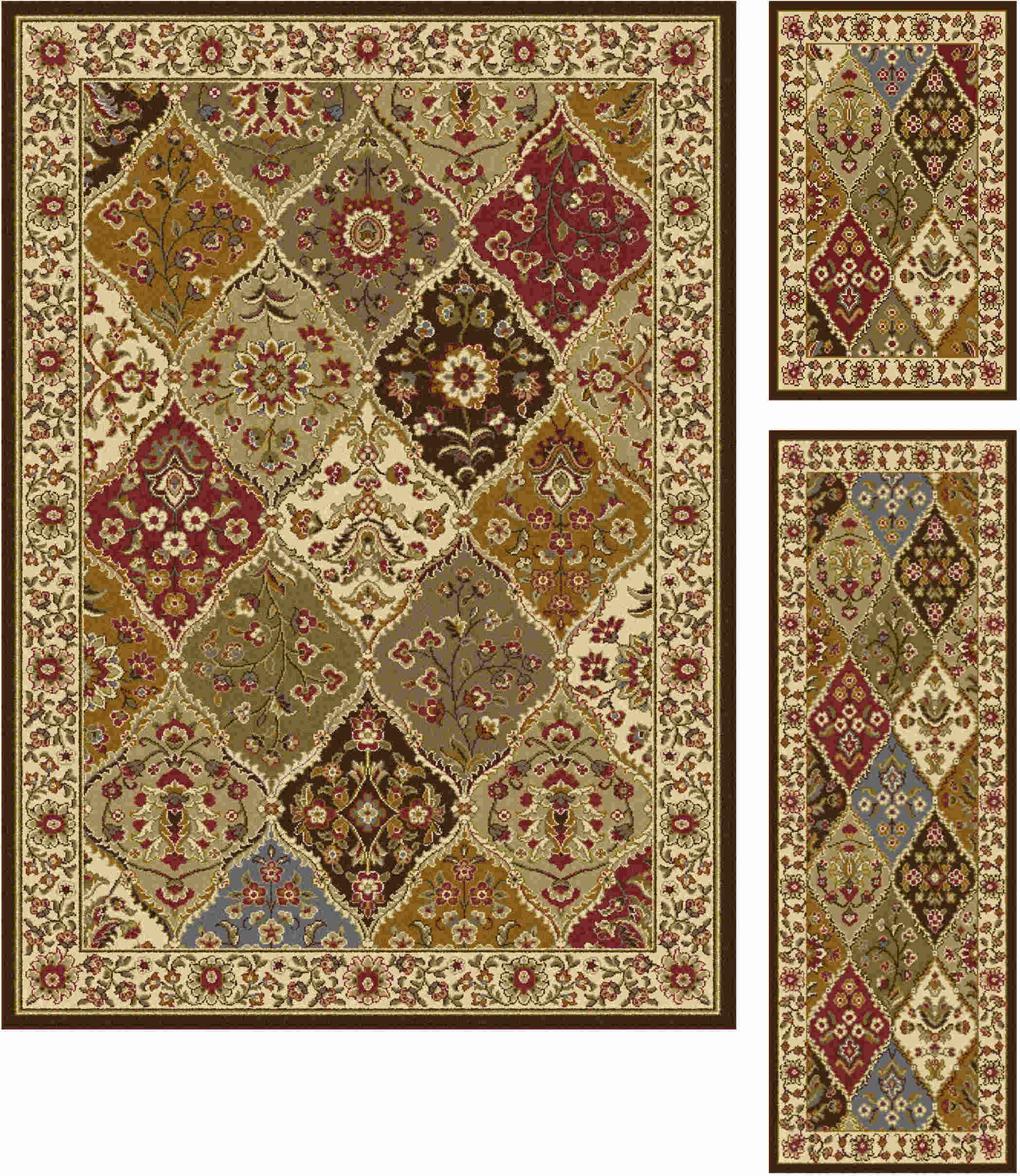Elegance 5120 Multi Traditional Area Rug