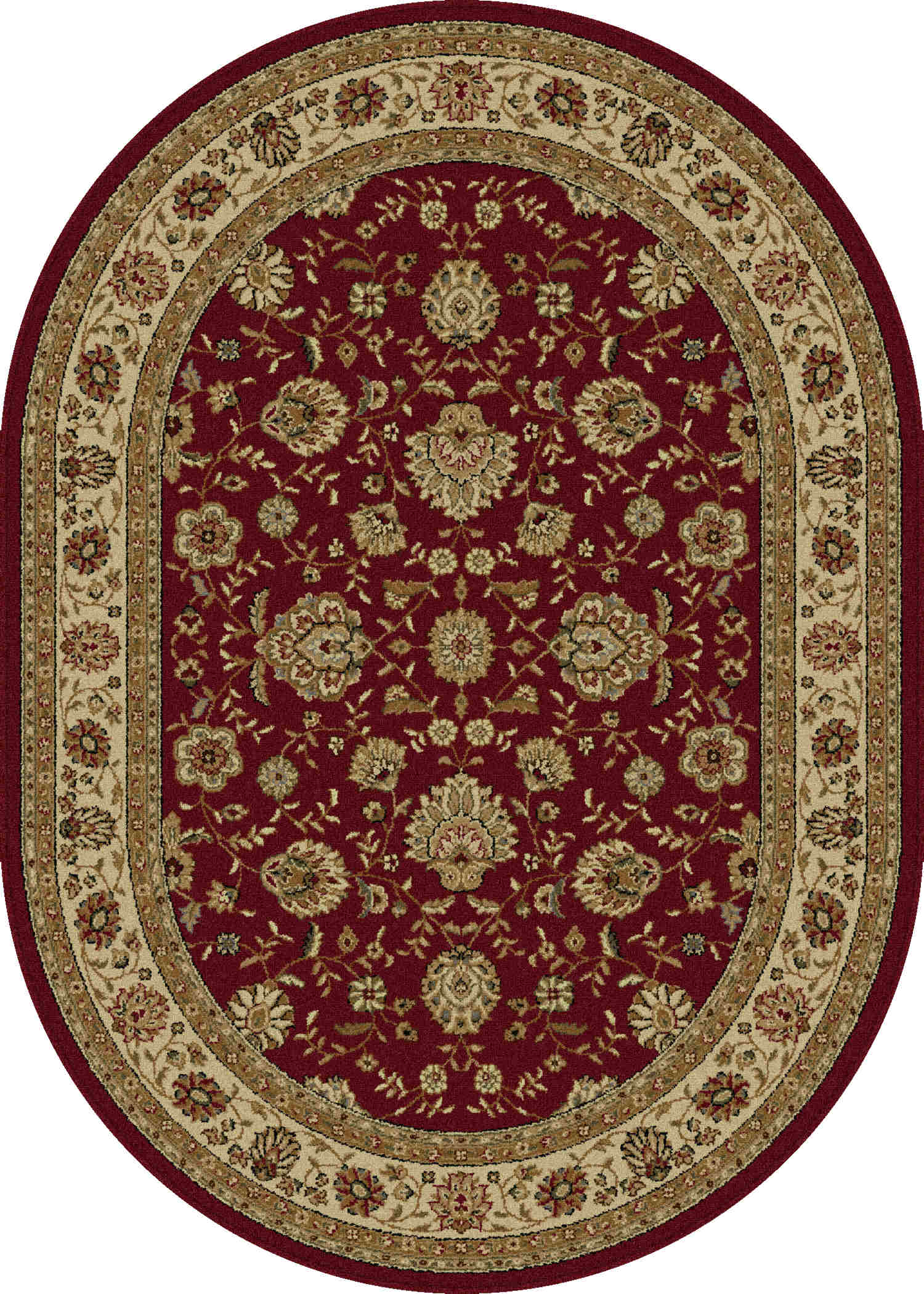 Elegance 5140 Red Traditional Area Rug