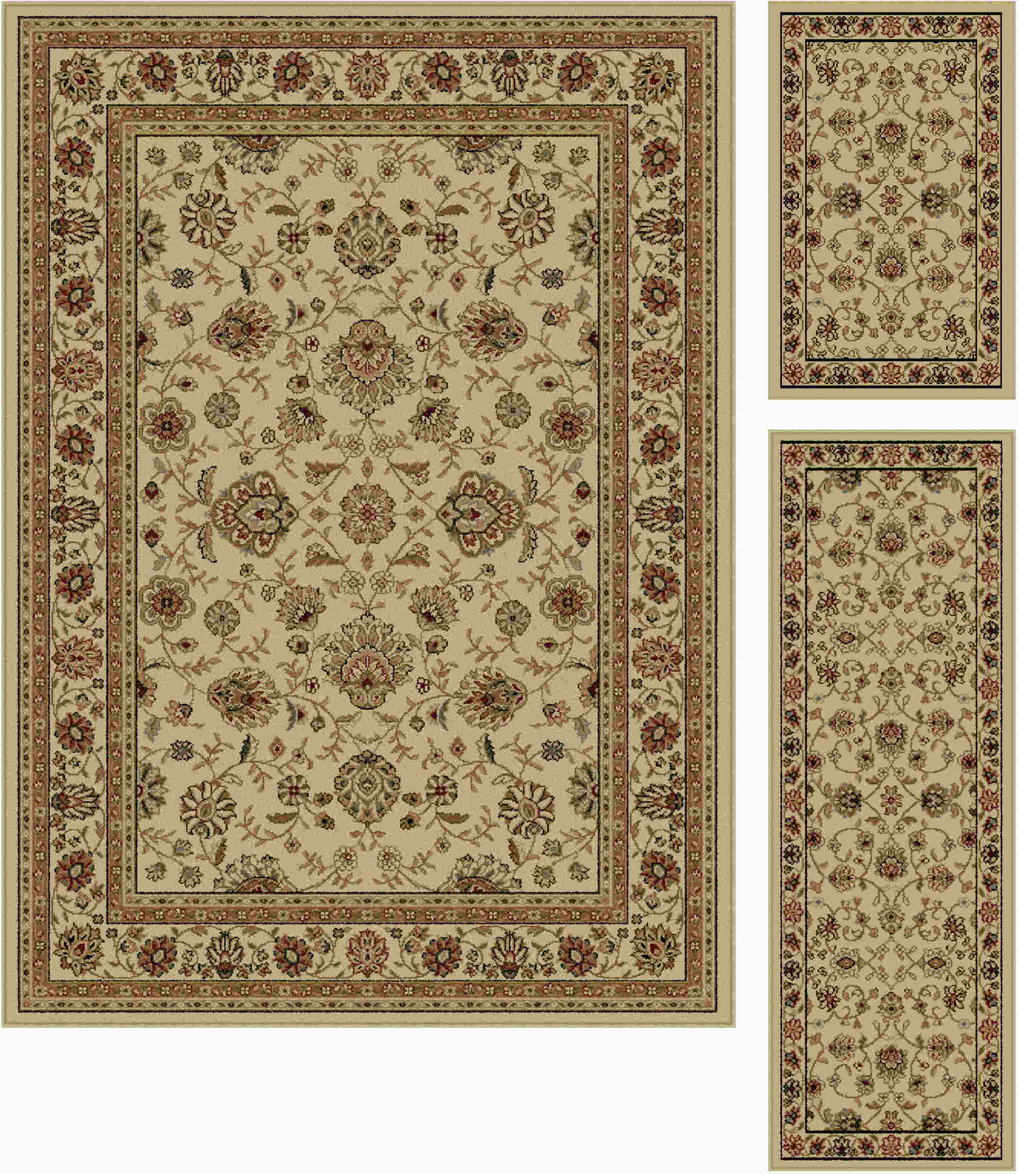 Elegance 5142 Beige Traditional Area Rug