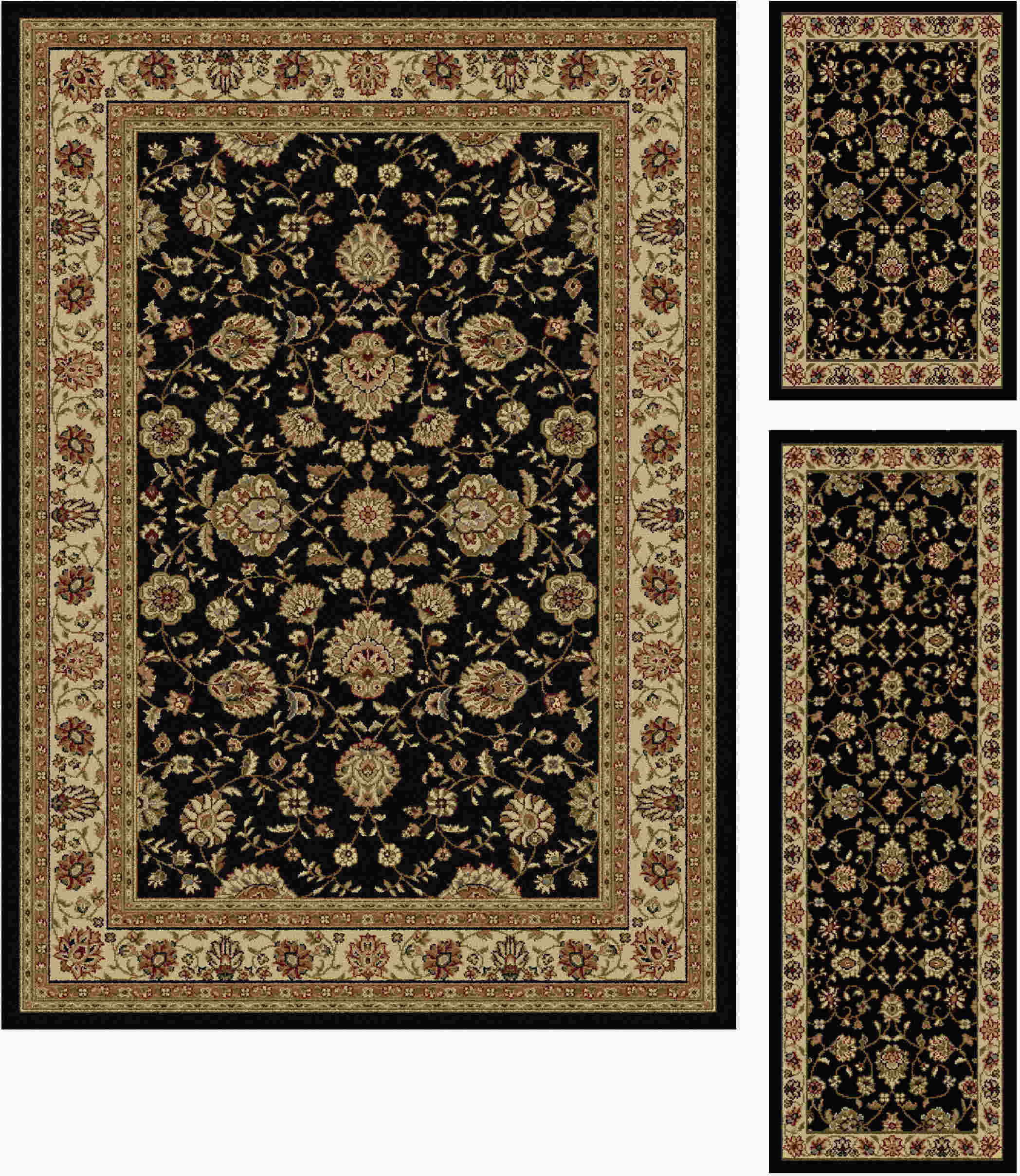 Elegance 5143 Black Traditional Area Rug