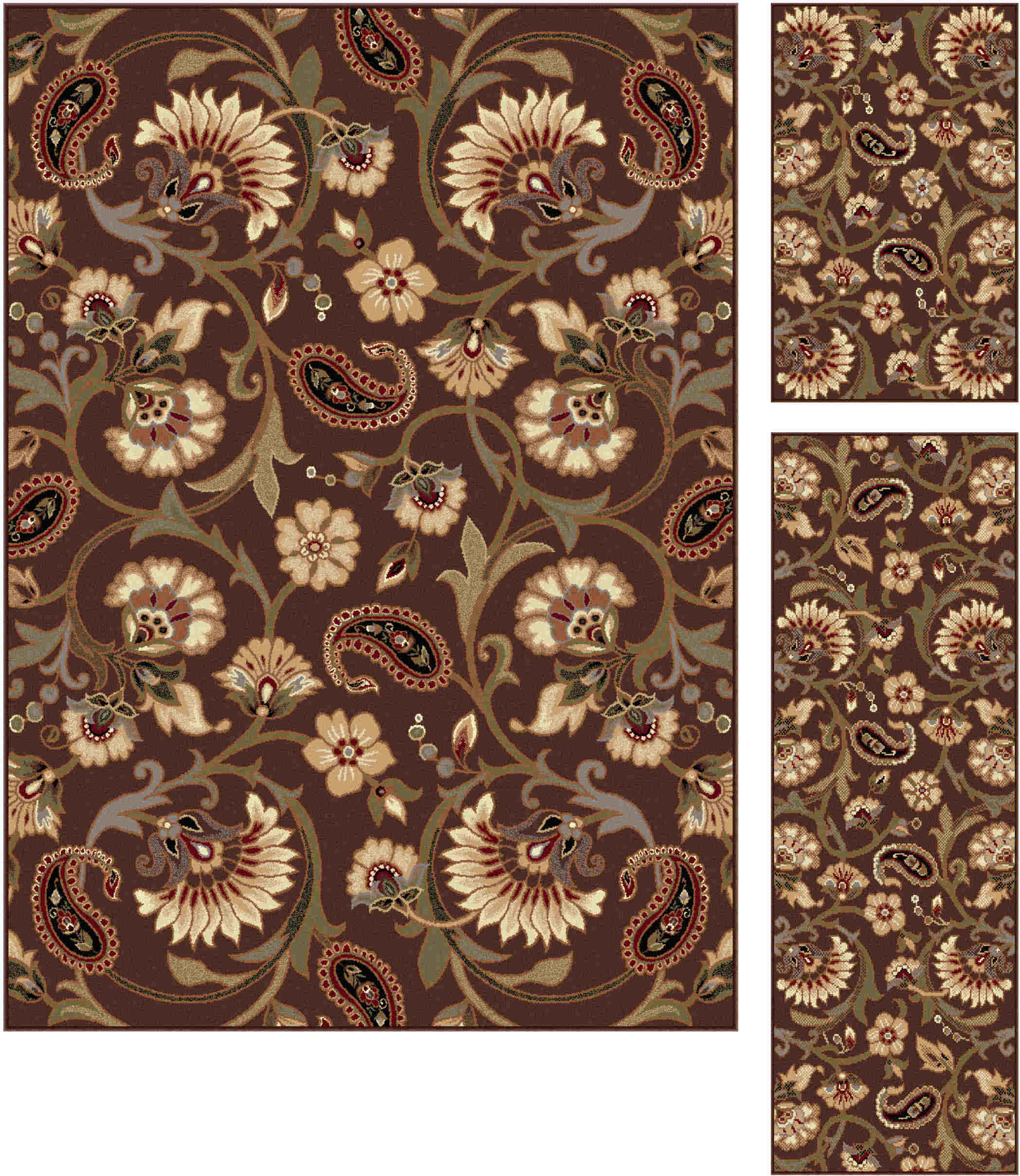 Elegance 5328 Brown Transitional Area Rug
