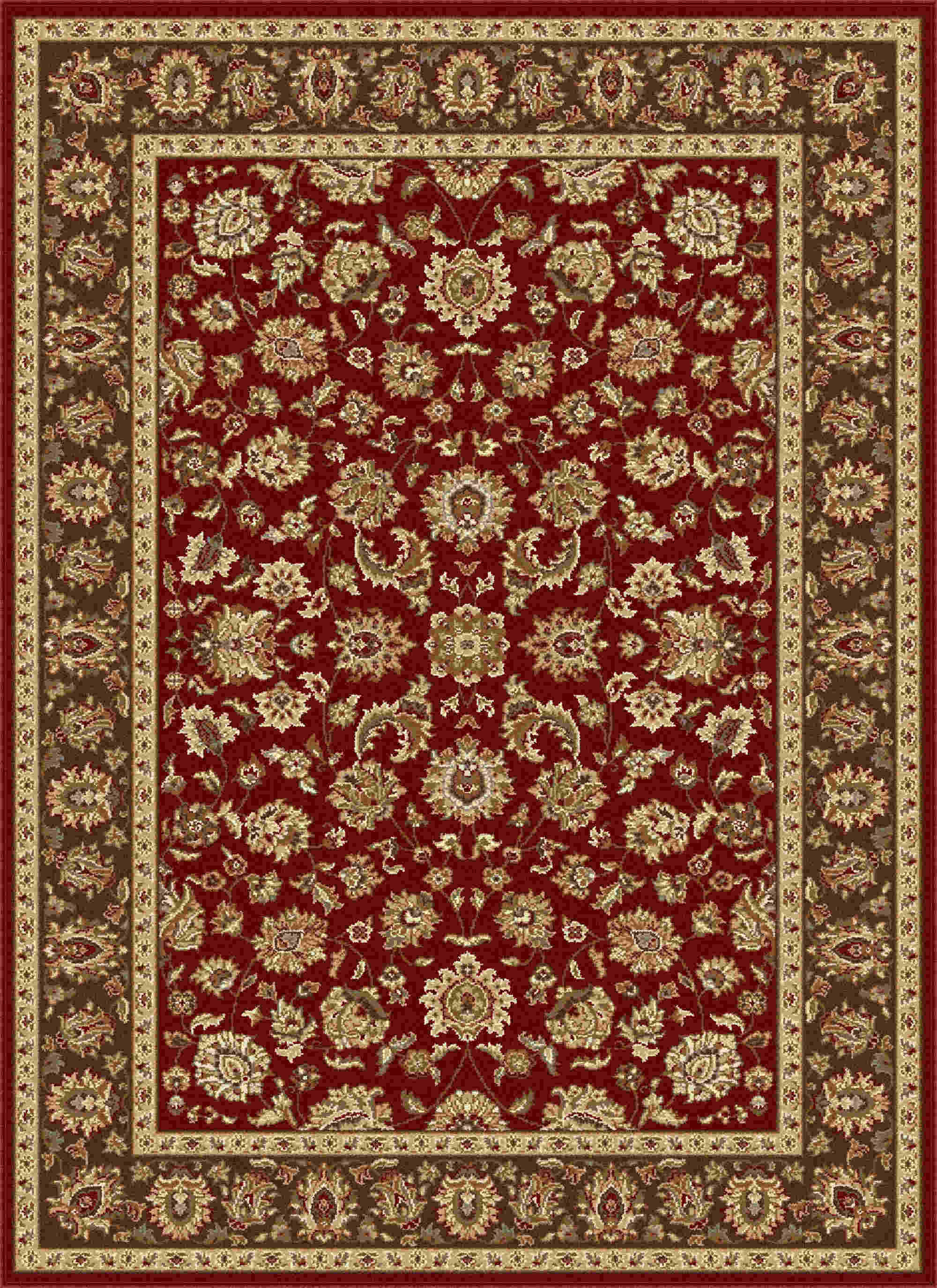 Elegance 5370 Red Traditional Area Rug