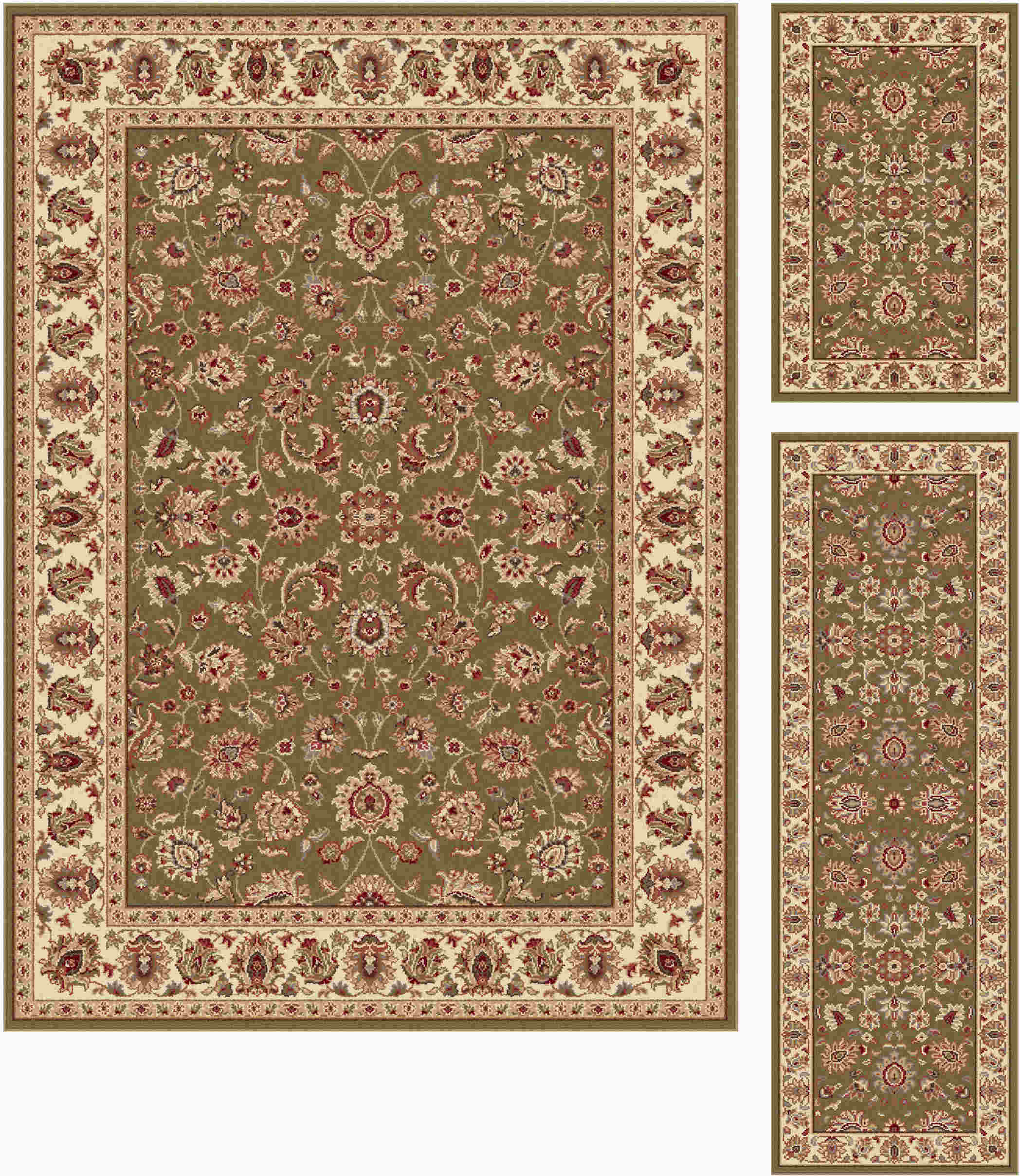 Elegance 5375 Green Traditional Area Rug