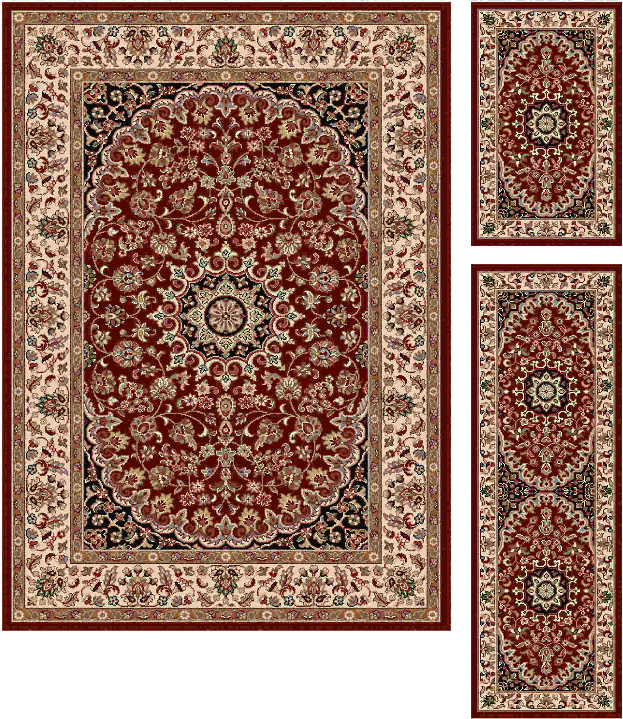 Elegance 5390 Red Transitional Area Rug