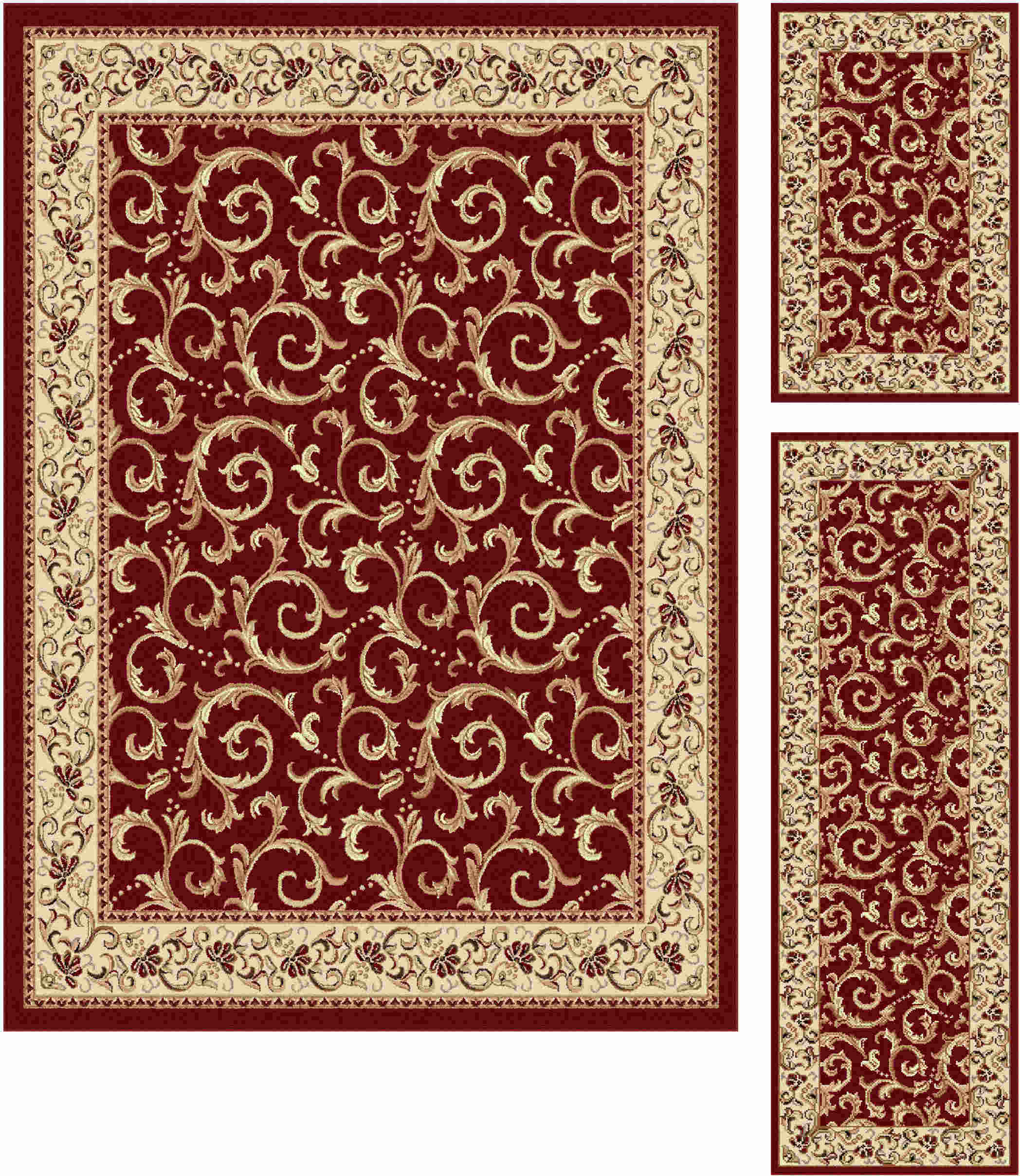 Elegance 5400 Red Transitional Area Rug
