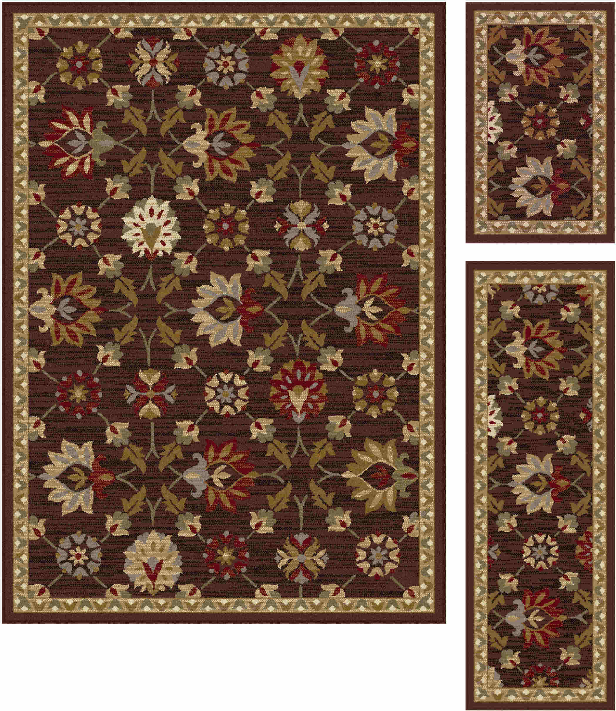Elegance 5458 Brown Transitional Area Rug