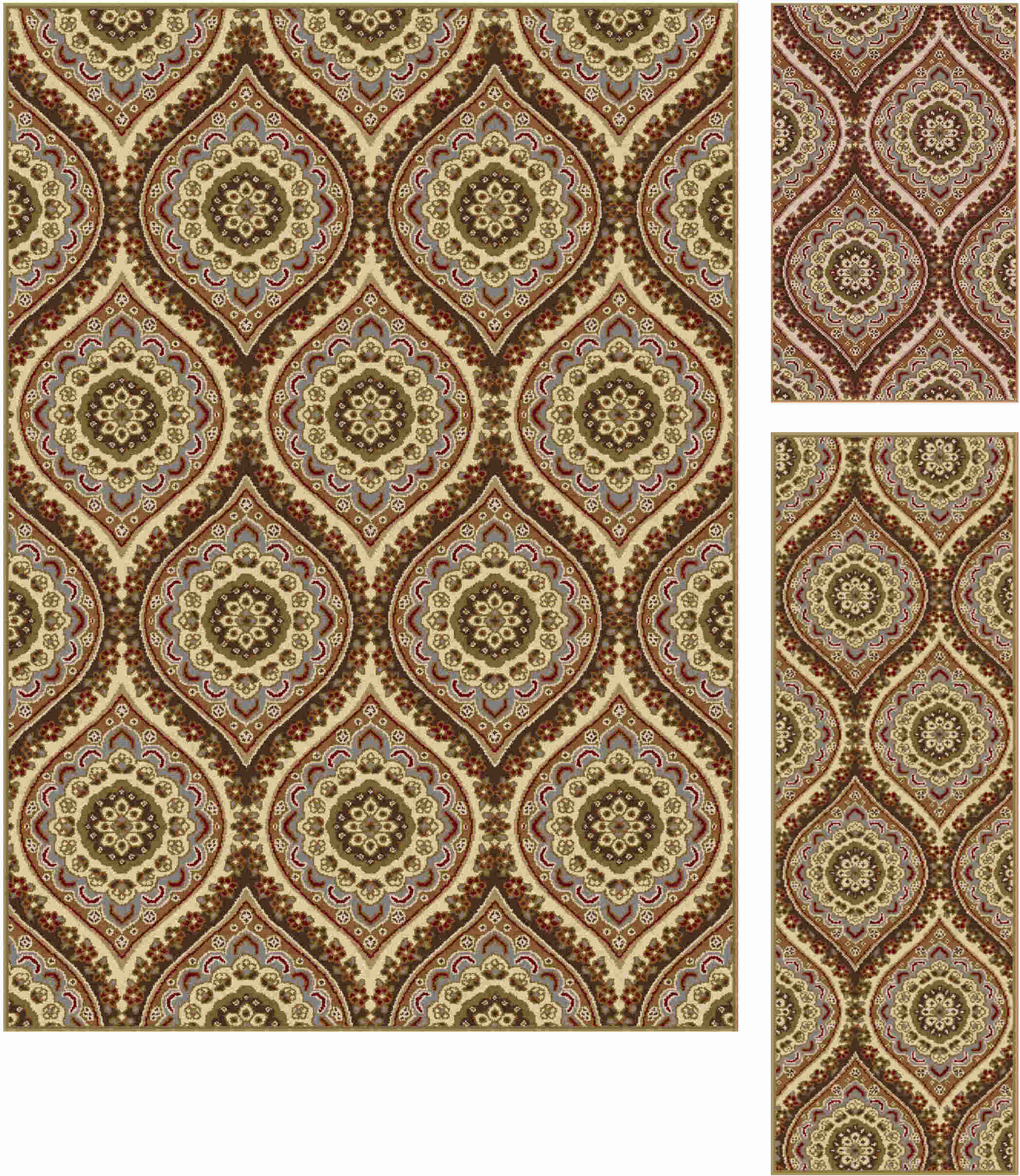Elegance 5478 Beige Transitional Area Rug
