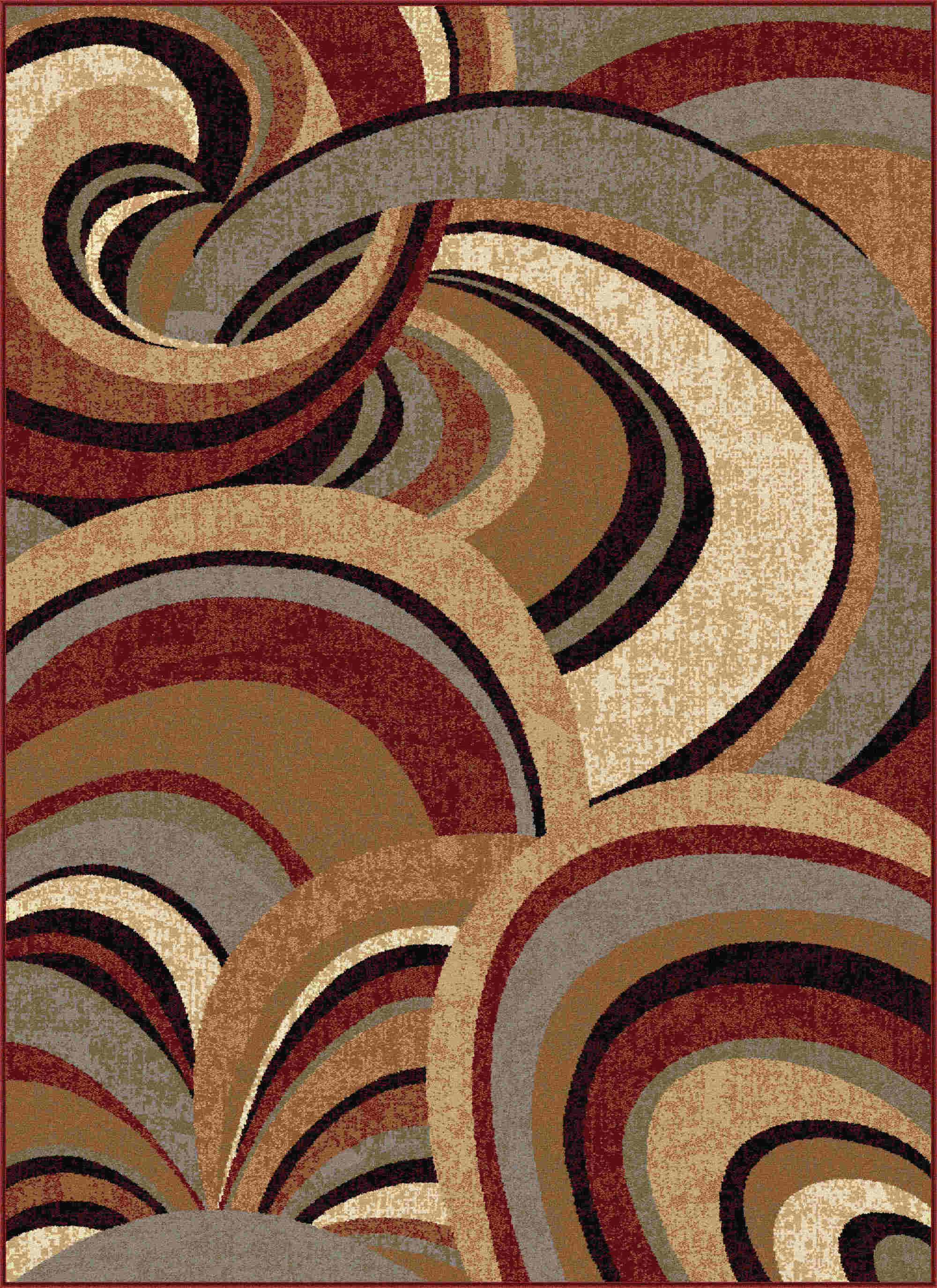 Impressions 7830 Brown Contemporary Area Rug
