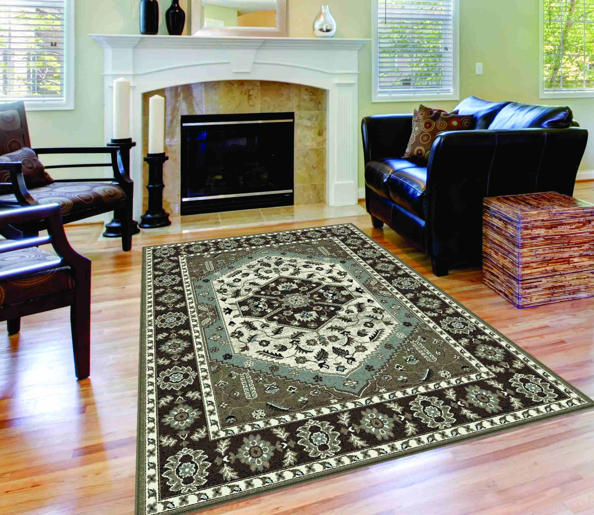 Avon Avn1408 Brown Traditional Area Rug