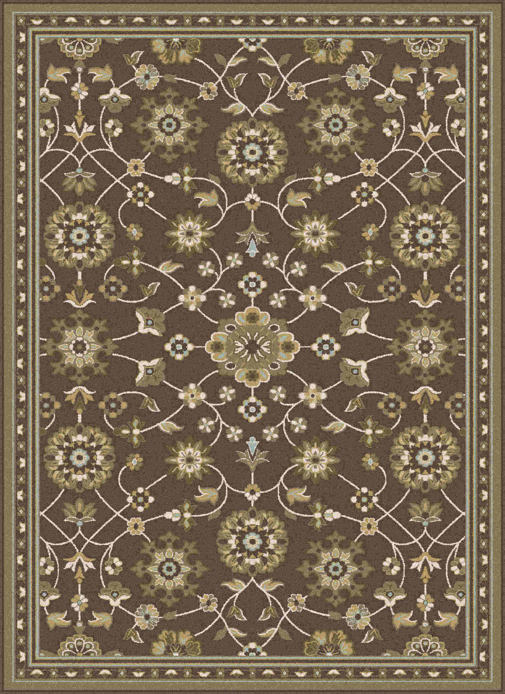 Cambridge Cbr1008 Brown Traditional Area Rug