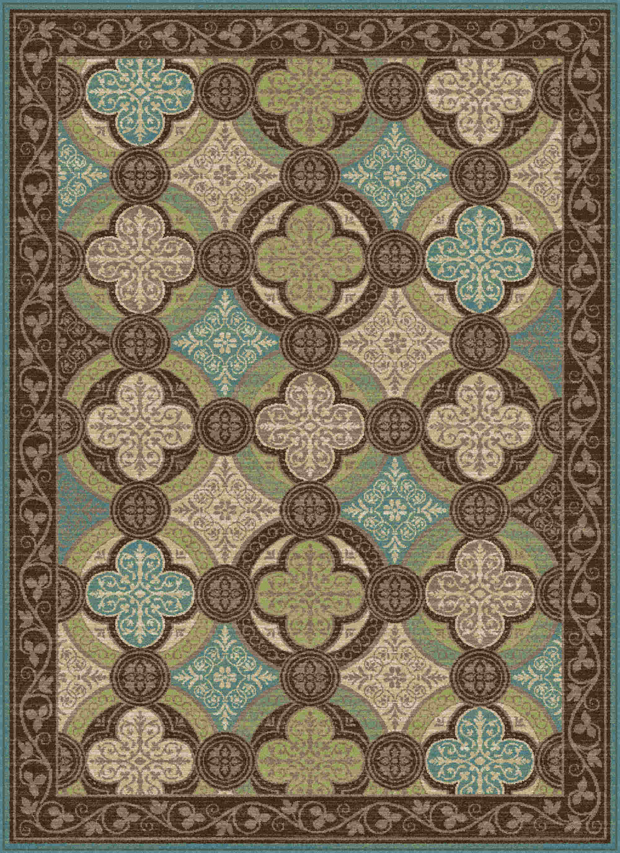 Capri Cpr1005 Brown Transitional Area Rug