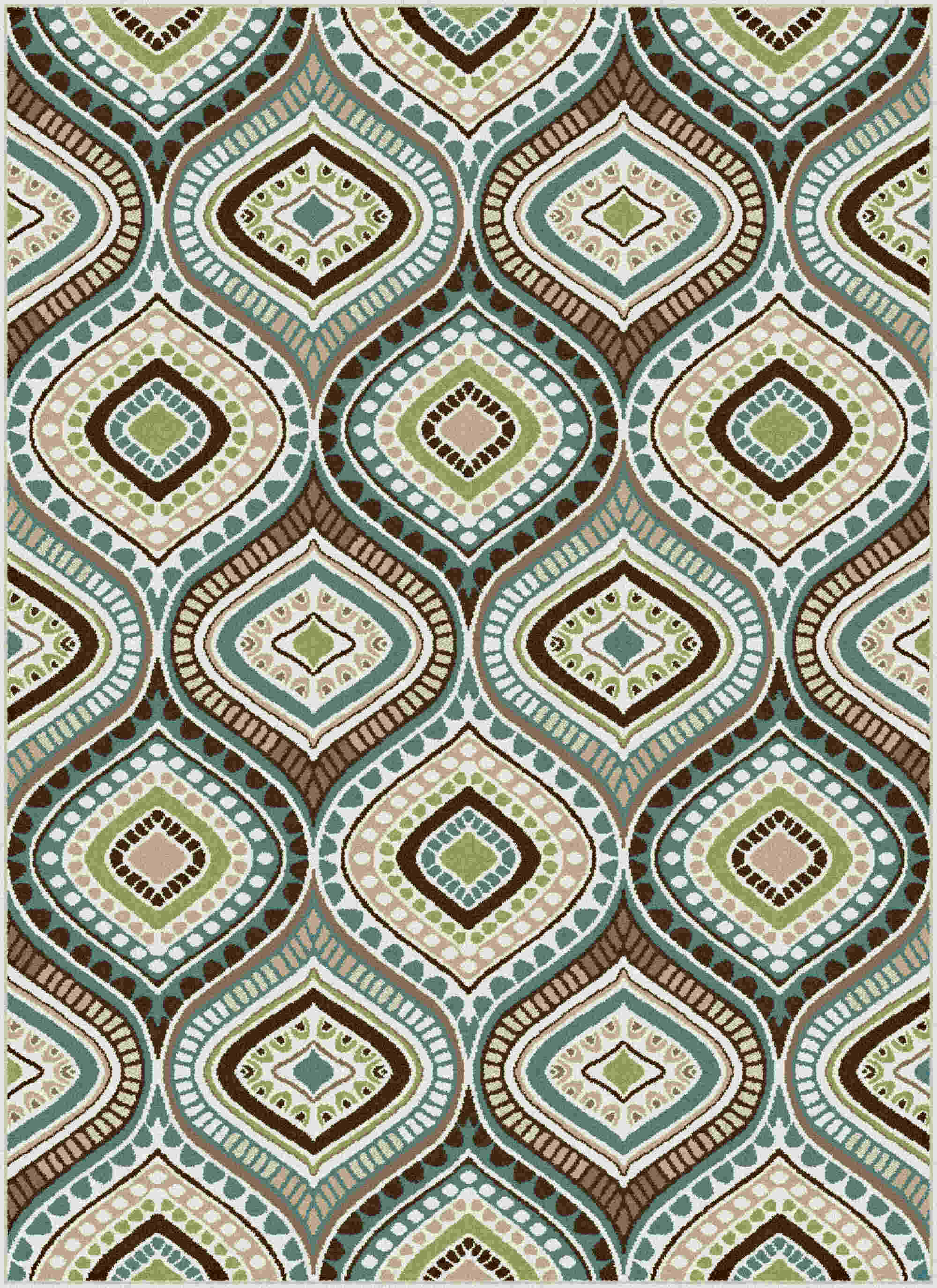 Capri Cpr1008 Blue Contemporary Area Rug