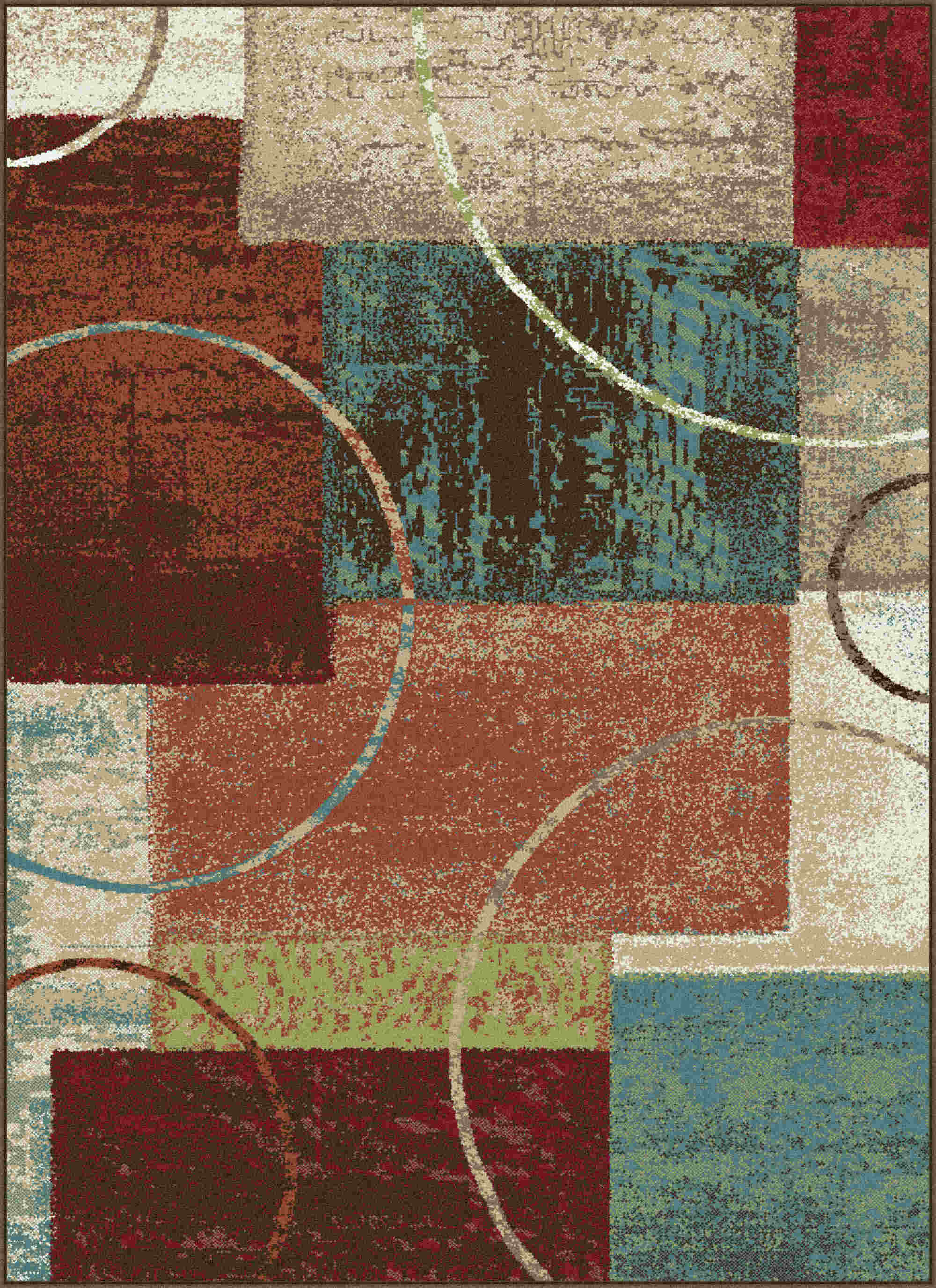 Deco Dco1004 Multi Contemporary Area Rug