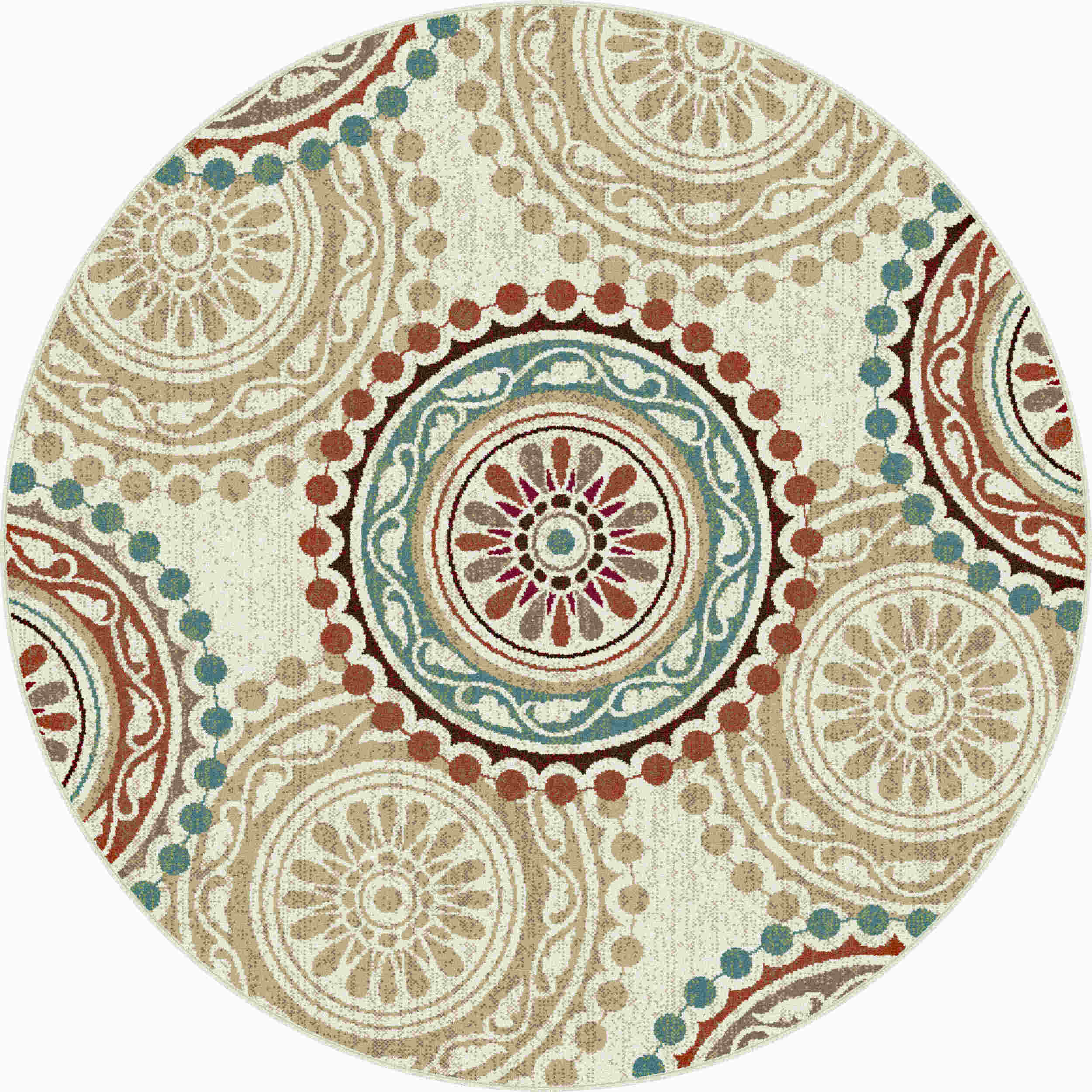 Deco Dco1011 Ivory Transitional Area Rug