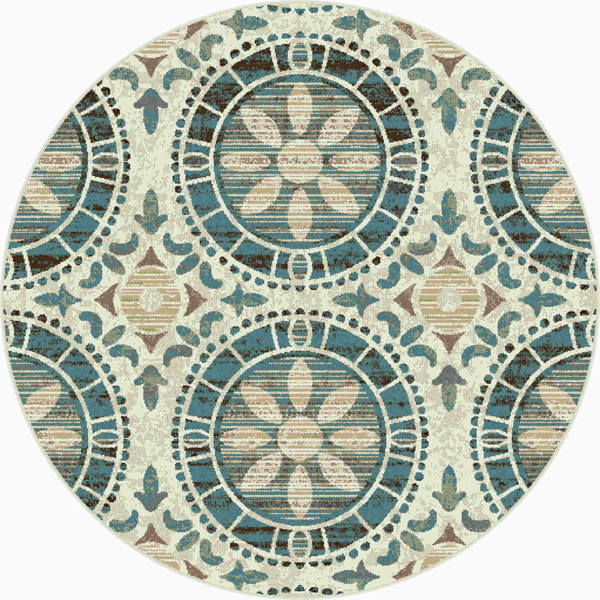 Deco Dco1017 Ivory Transitional Area Rug