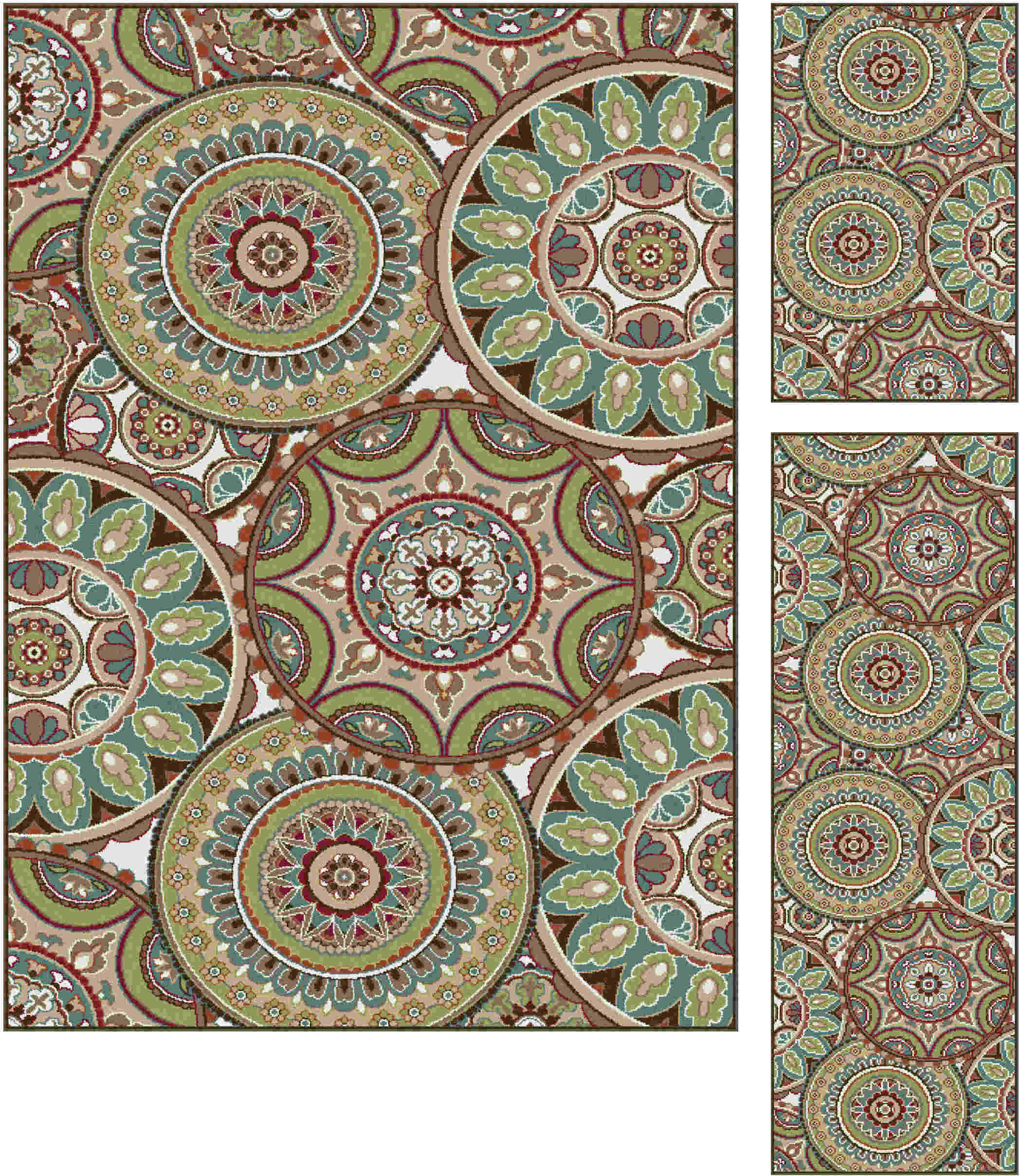 Deco Dco1018 Multi Transitional Area Rug