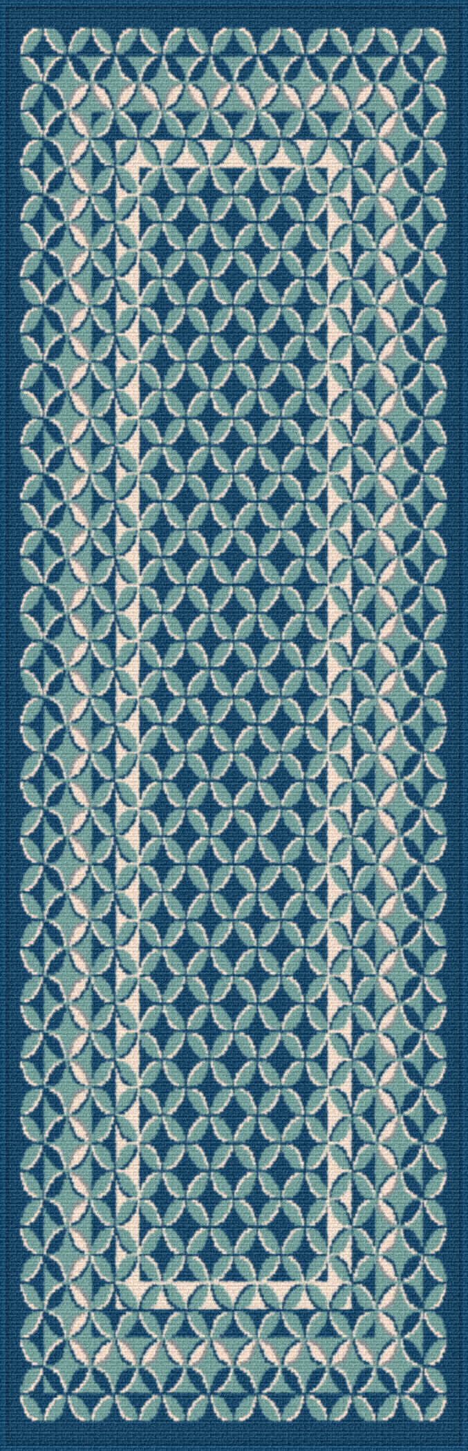 Garden City Gct1026 Navy Contemporary Area Rug