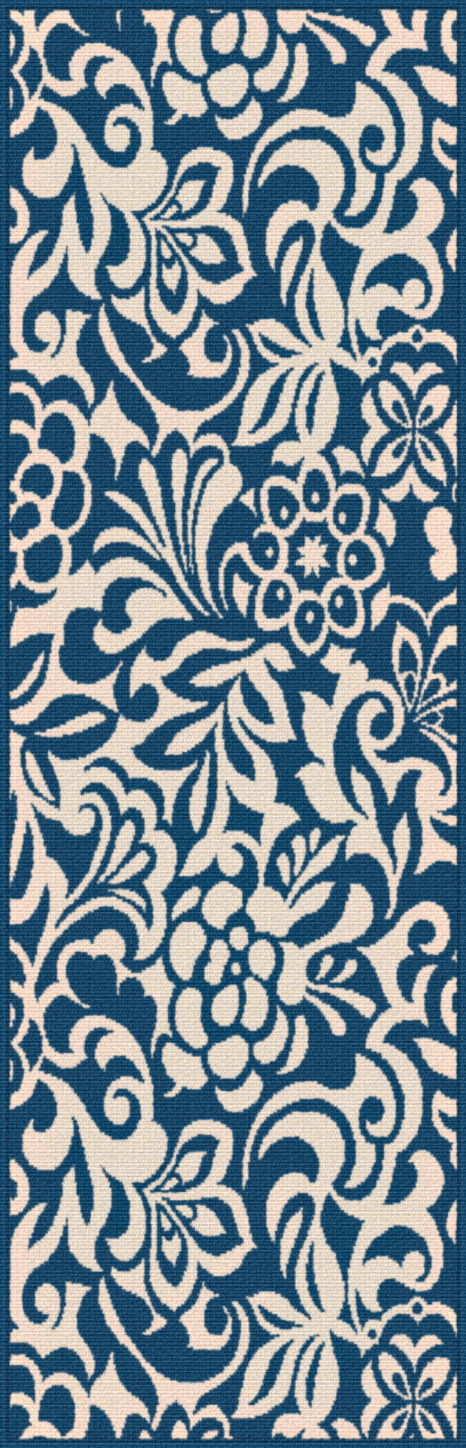 Garden City Gct1031 Navy Transitional Area Rug