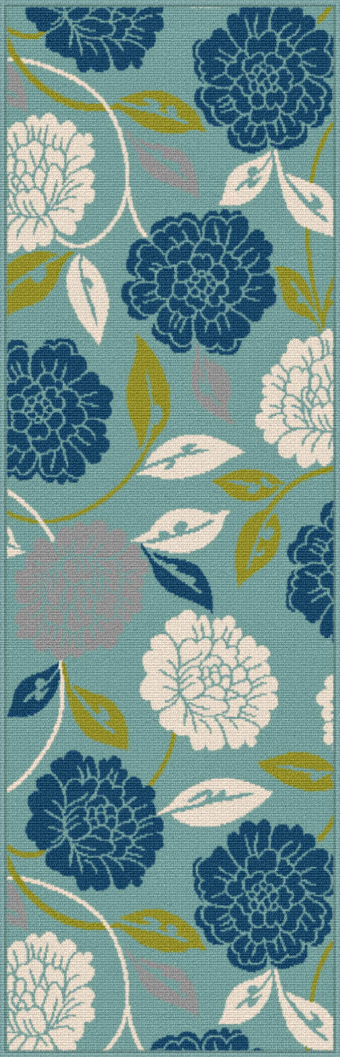 Garden City Gct1032 Aqua Transitional Area Rug